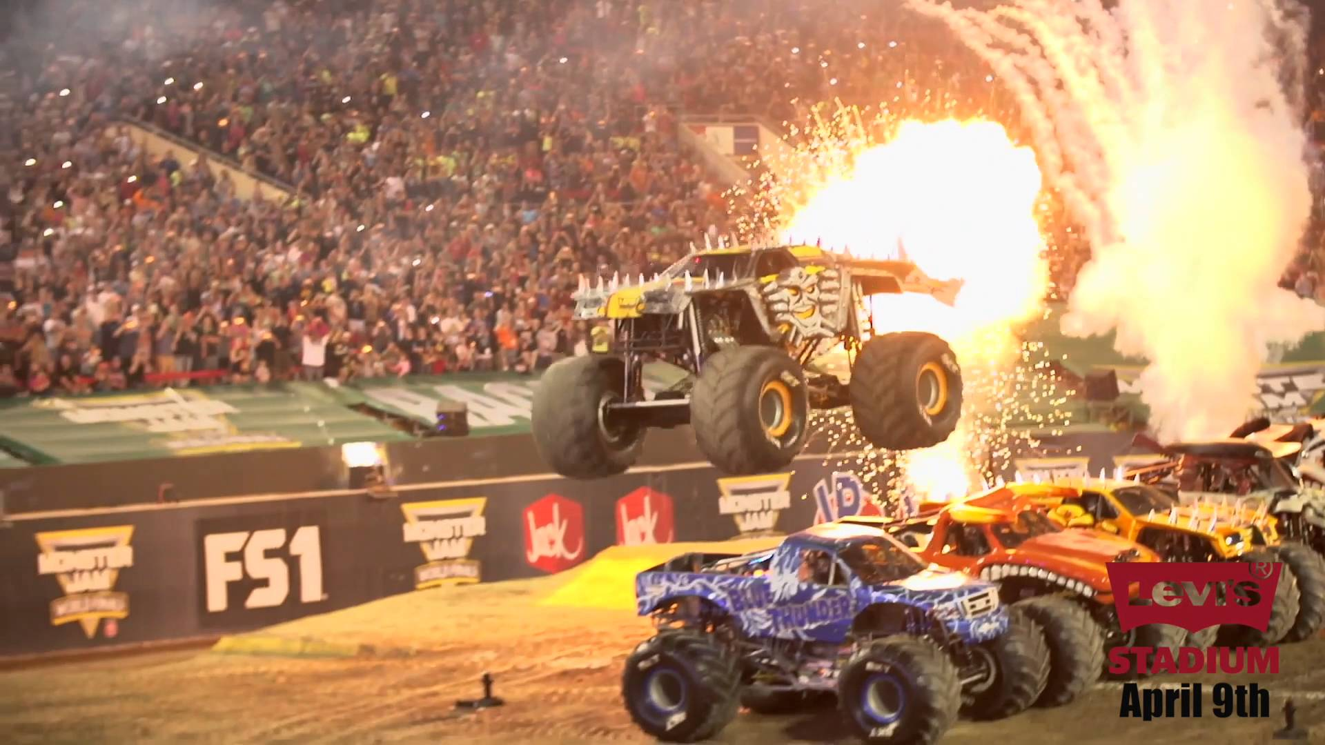 Max-D to Attempt To Jump SIX Monster Jam Trucks in Santa Clara ...