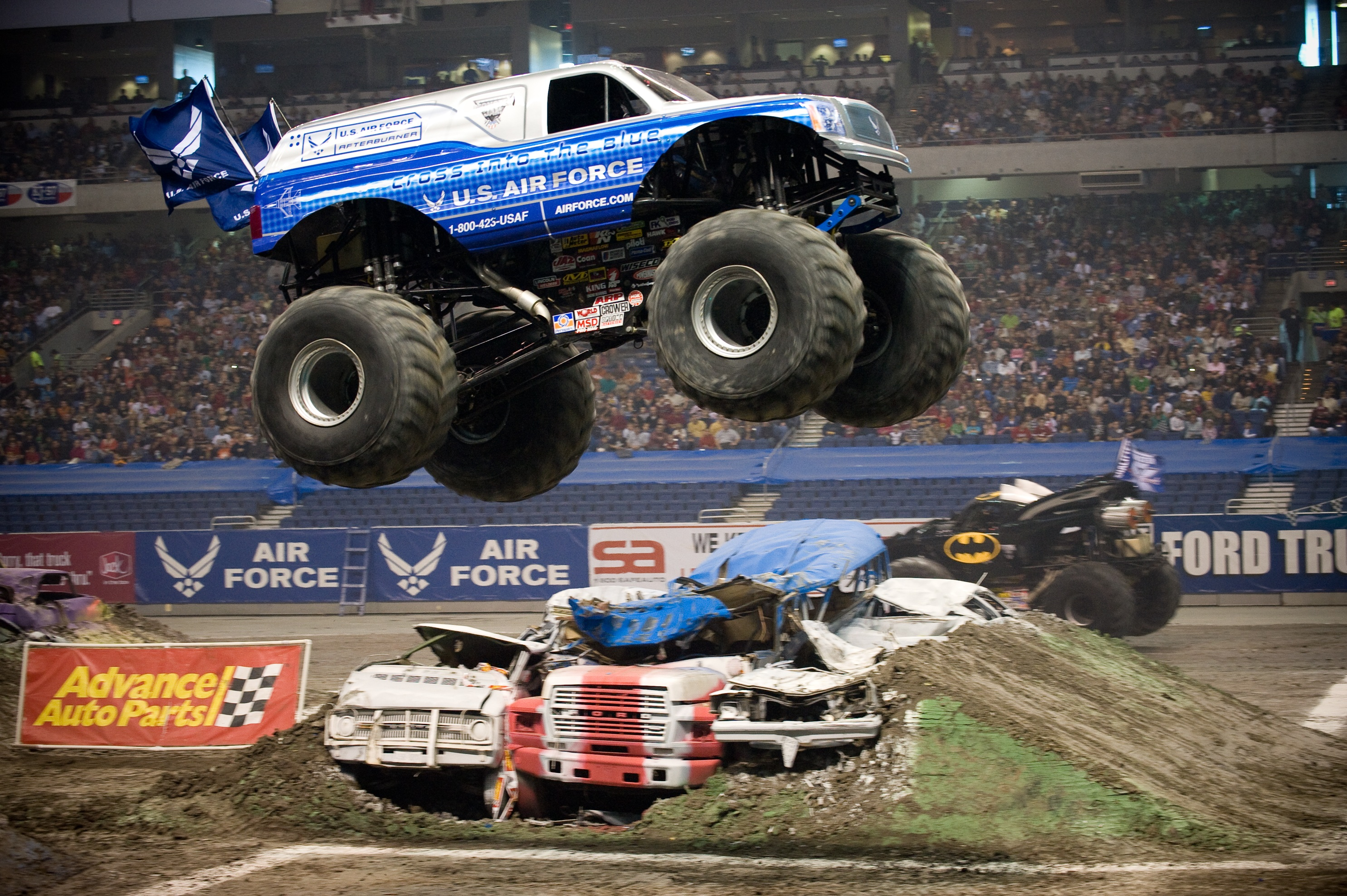 Monster Truck Jump, Activity, Championship, Giant, Monster, HQ Photo