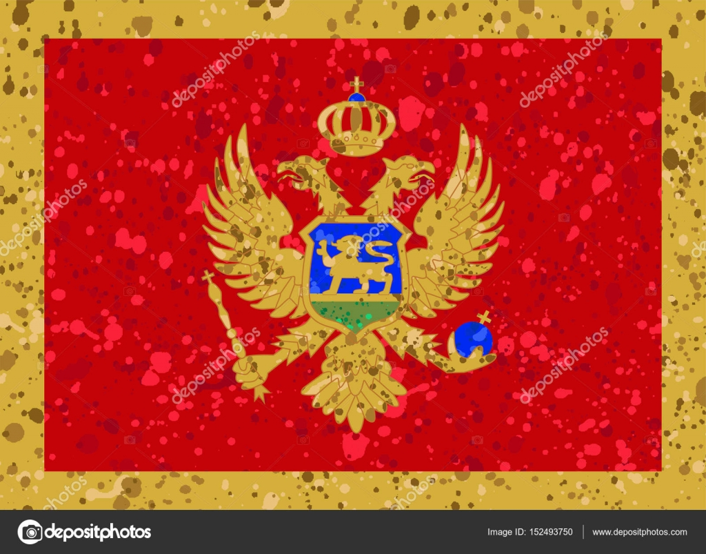 montenegro flag grunge illustration — Stock Vector © noche0 #152493750