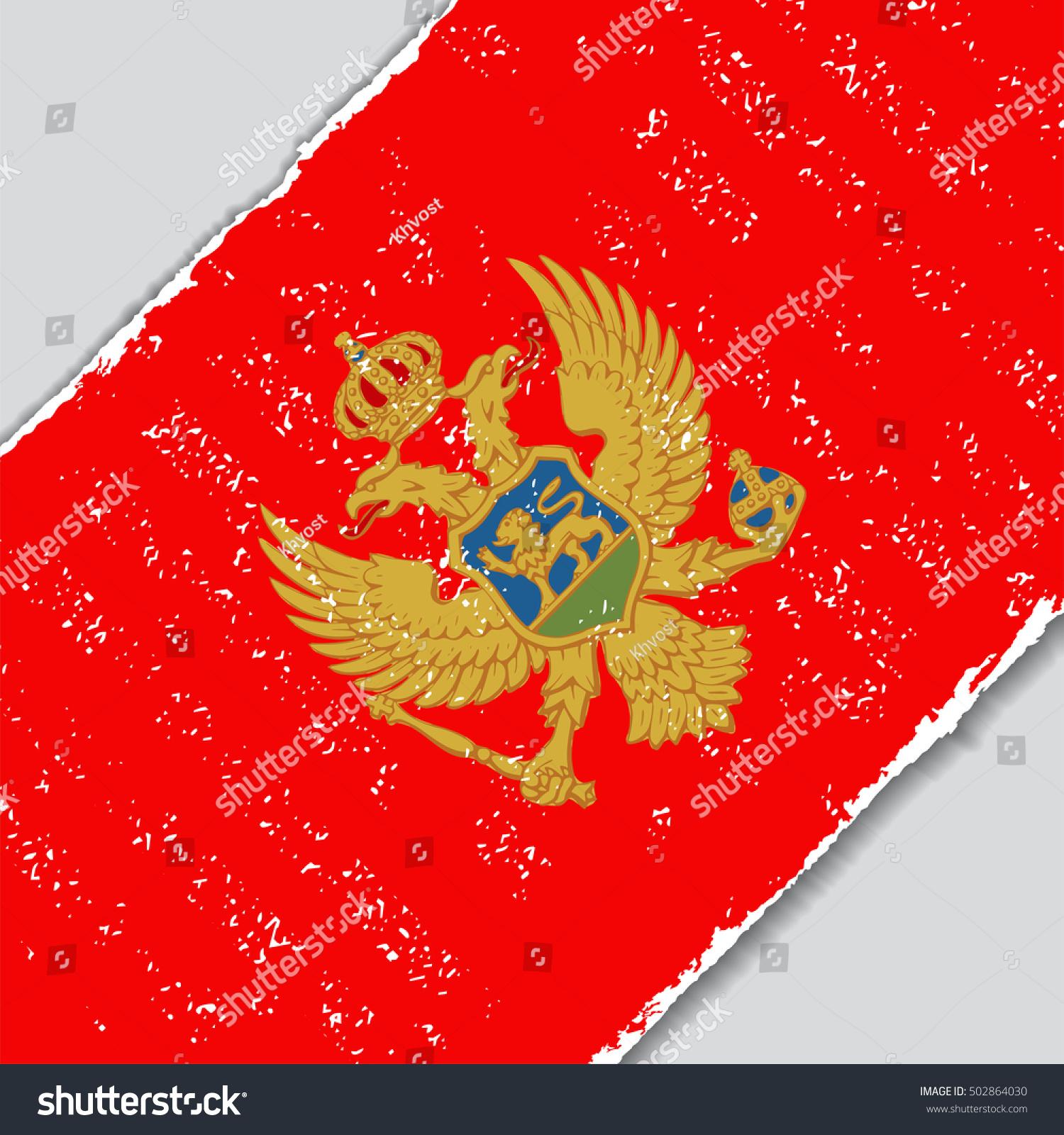 Montenegro Grunge Flag Diagonal Background Vector Stock Vector ...