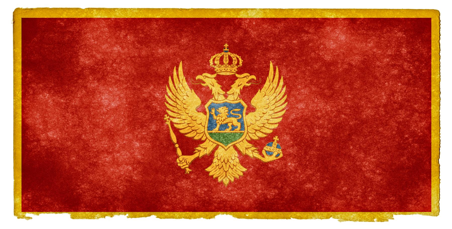 Montenegro Grunge Flag, Aged, Pride, Isolated, Montenegro, HQ Photo