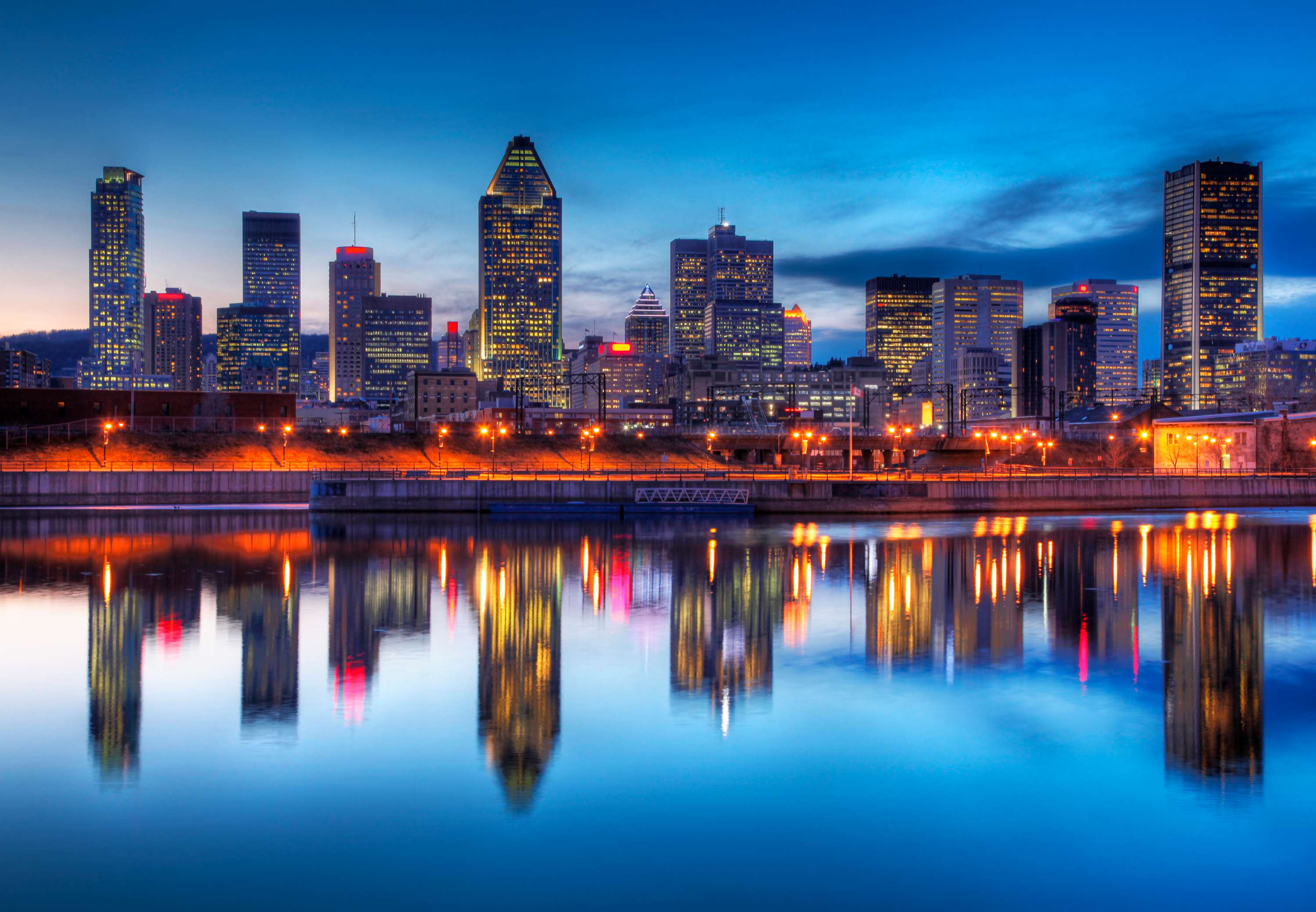 Montreal Skyline - Renaissance Montreal Downtown Hotel