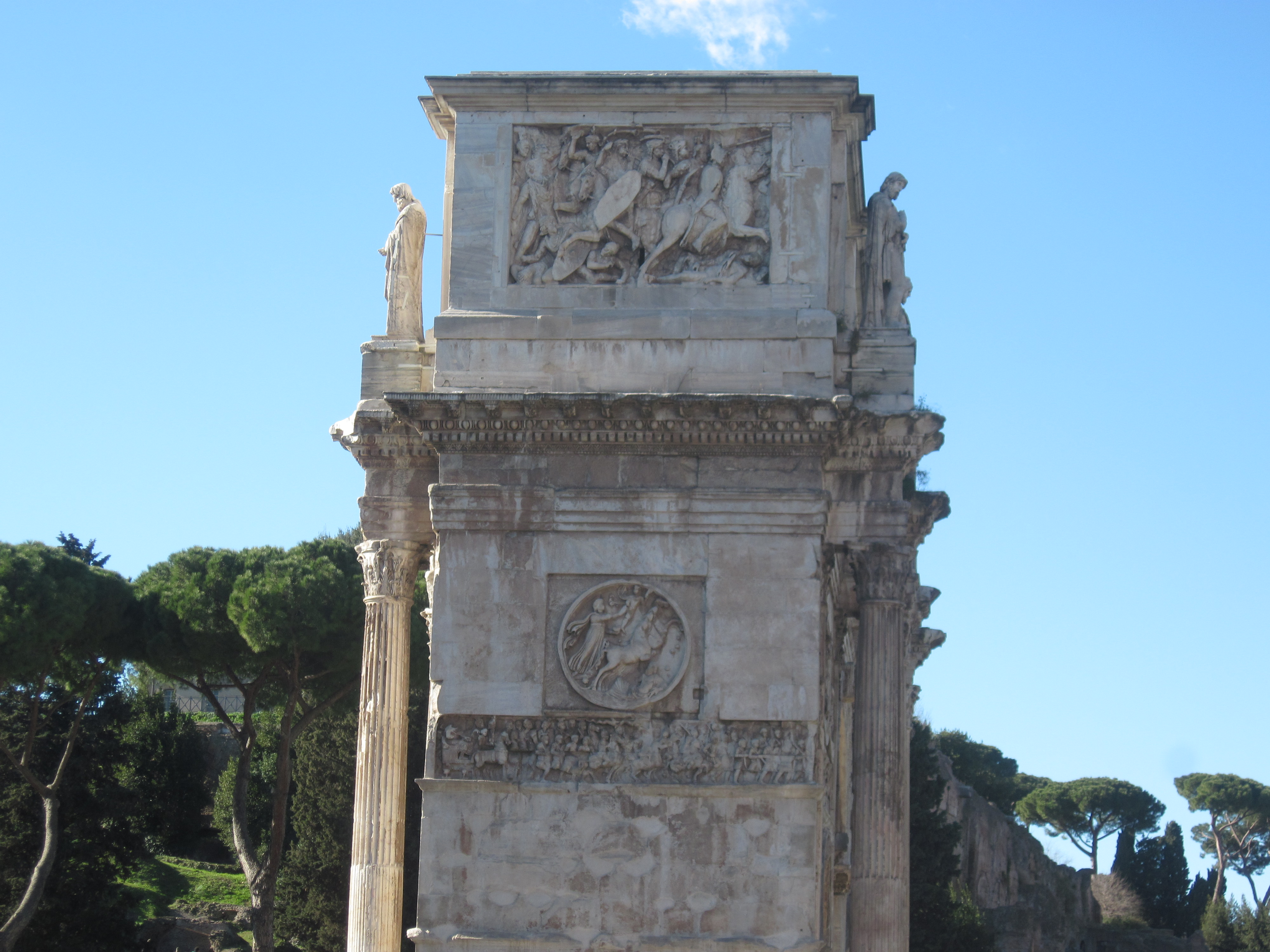 Monument of emperor constantin, rome photo