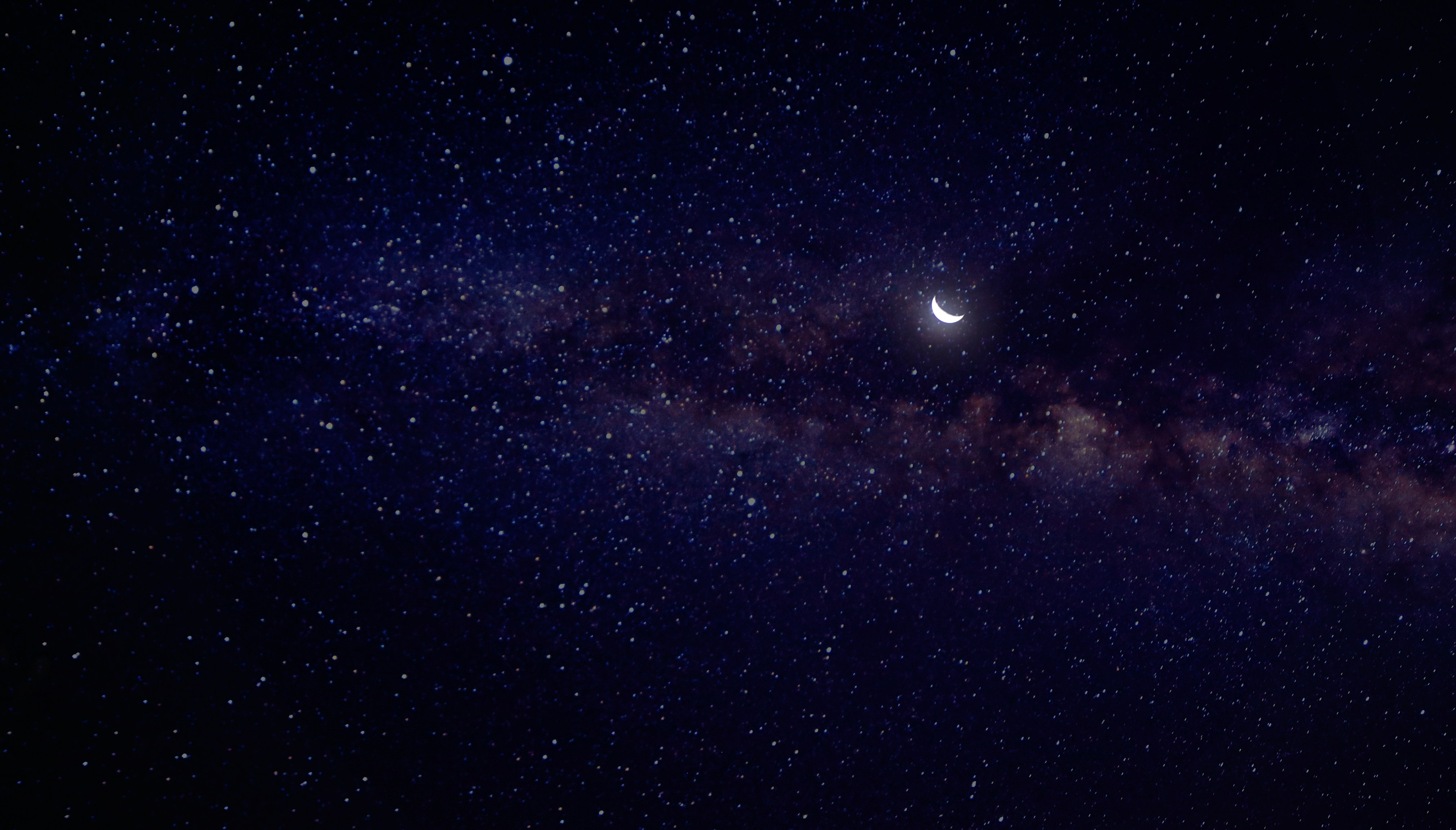 Moon and stars photo