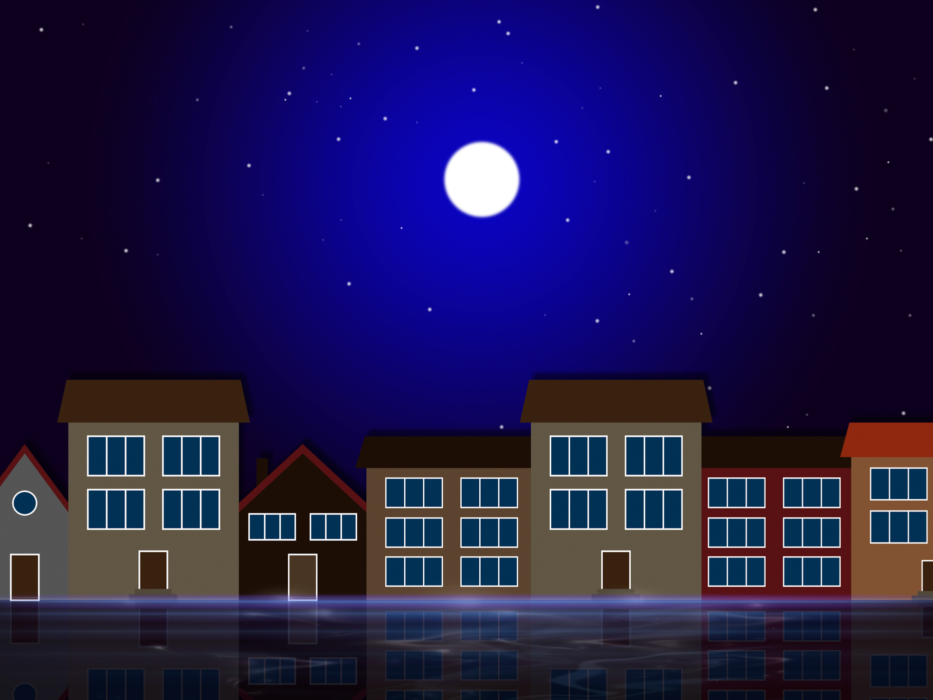Moon night indicates astronomy house and residential photo