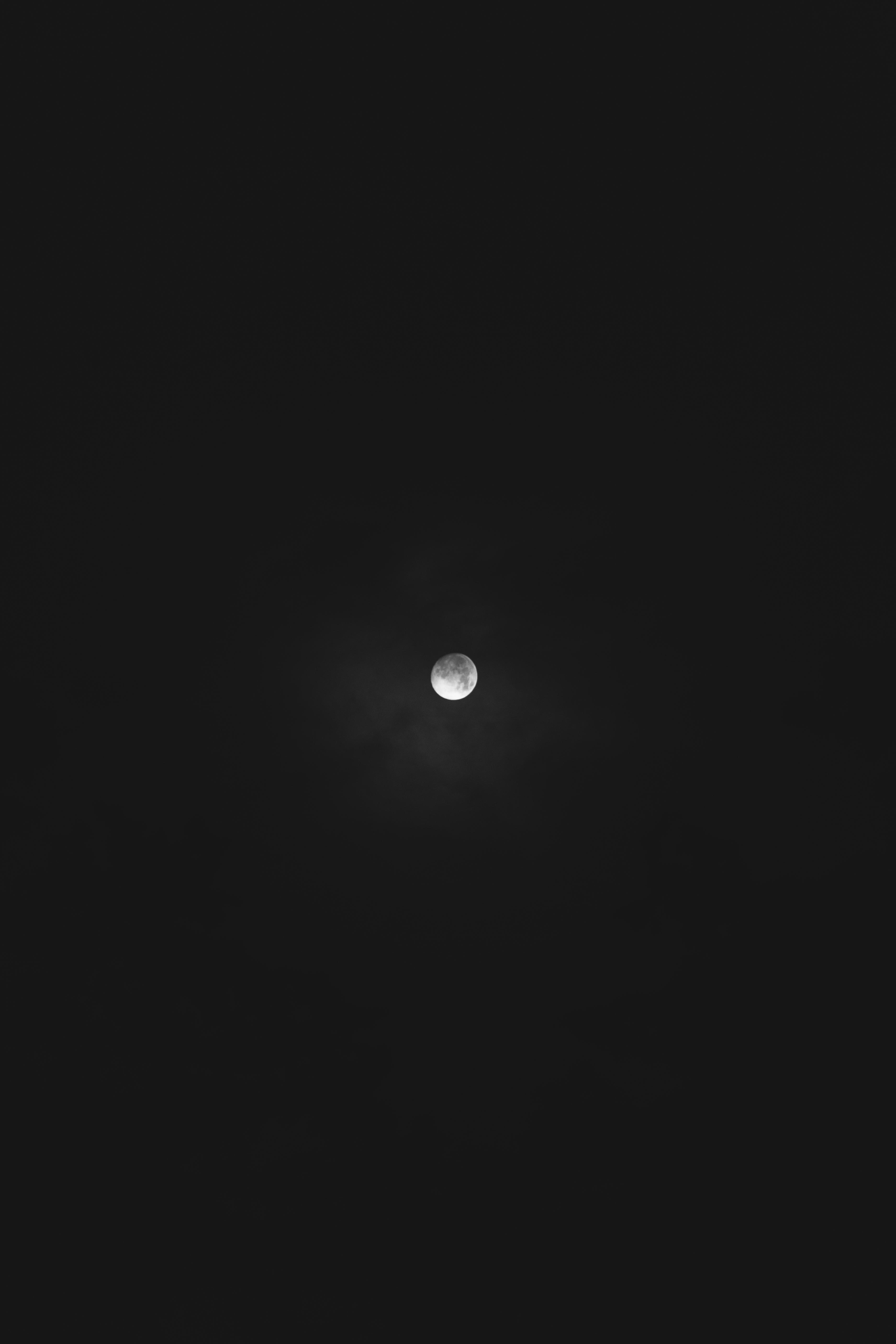 Moon on black background photo
