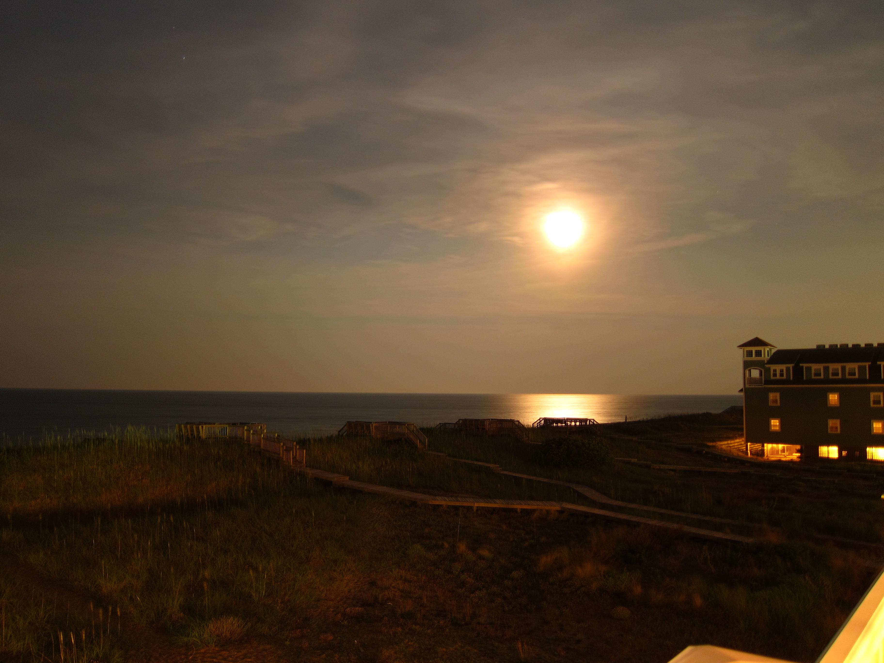 Moonlit night, Beach, Moon, Moonlight, Night, HQ Photo