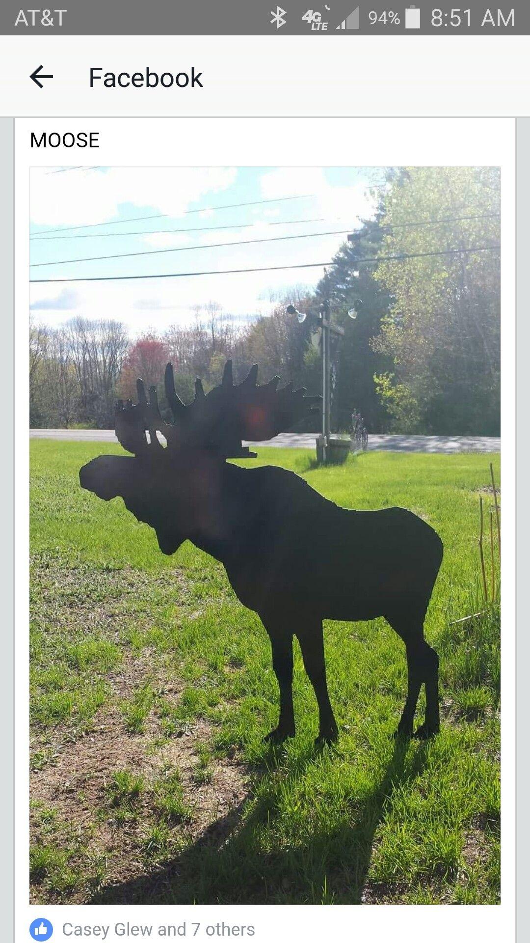4 foot moose | grey beards metal art | Pinterest