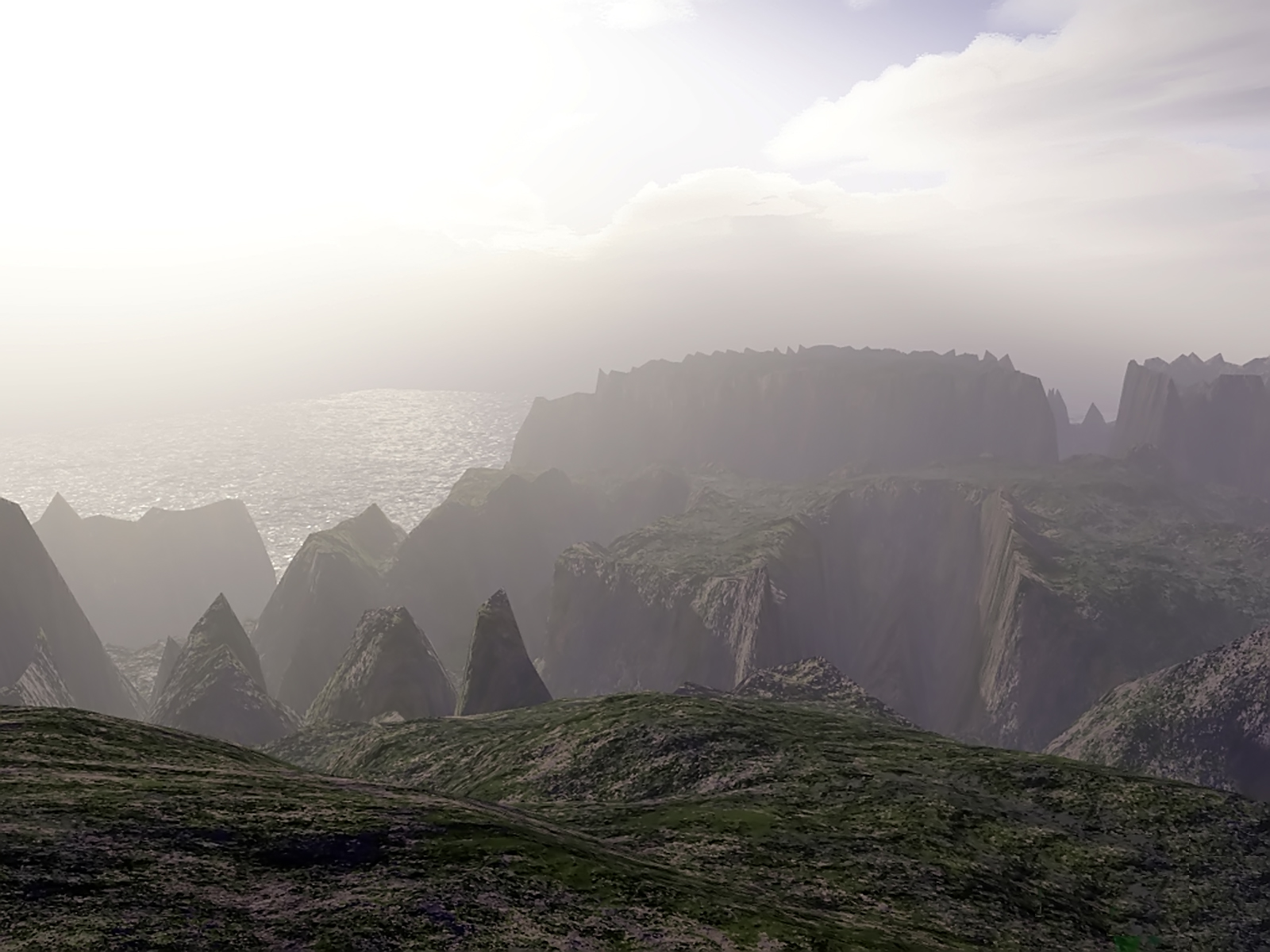 MORNING FOG, 3d, Bspo06, Cliffs, Fog, HQ Photo