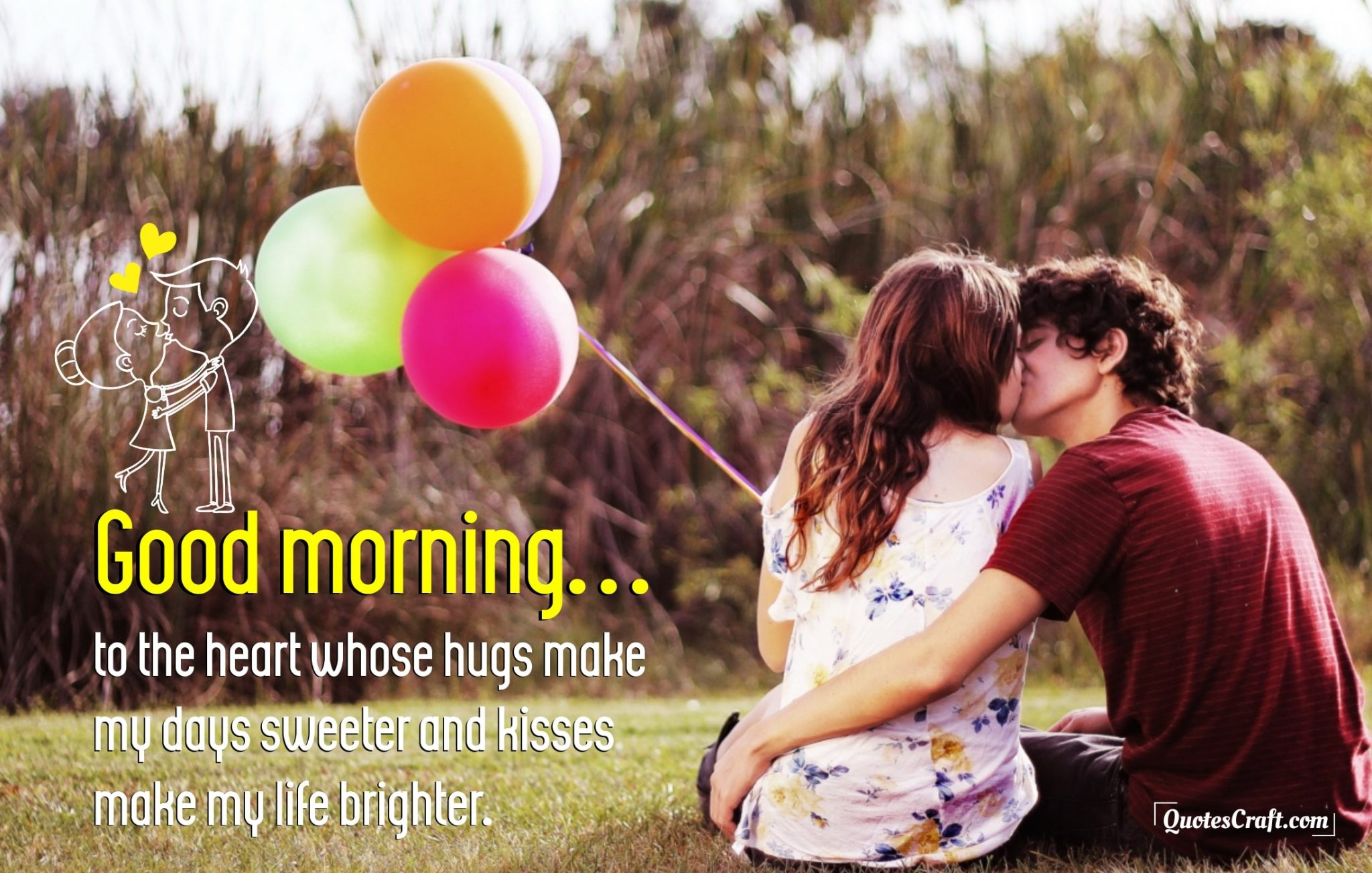 Kiss Morning Good Morning Love Quotes For Him Her - QuotesCraft