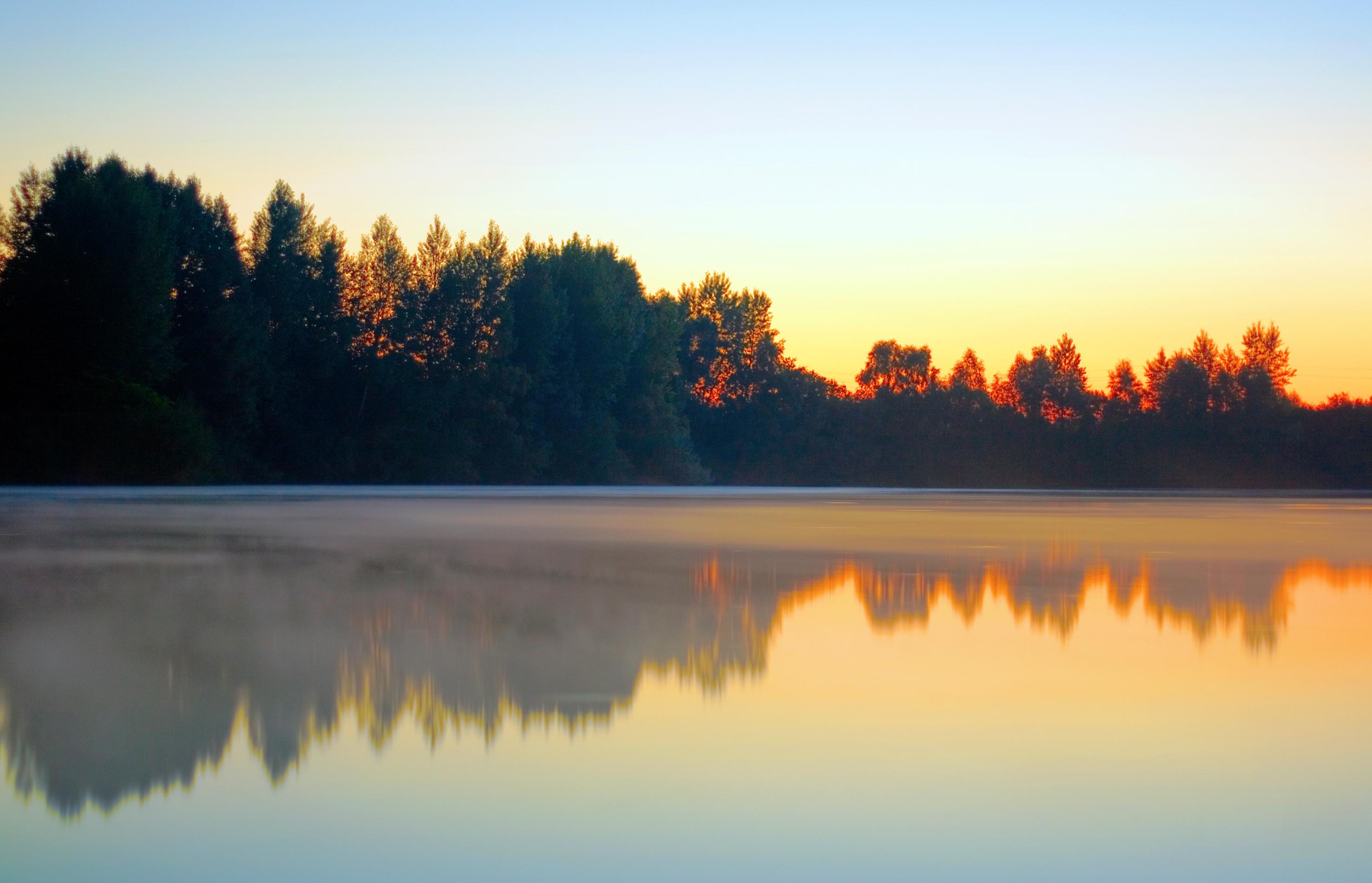 Morning lake photo