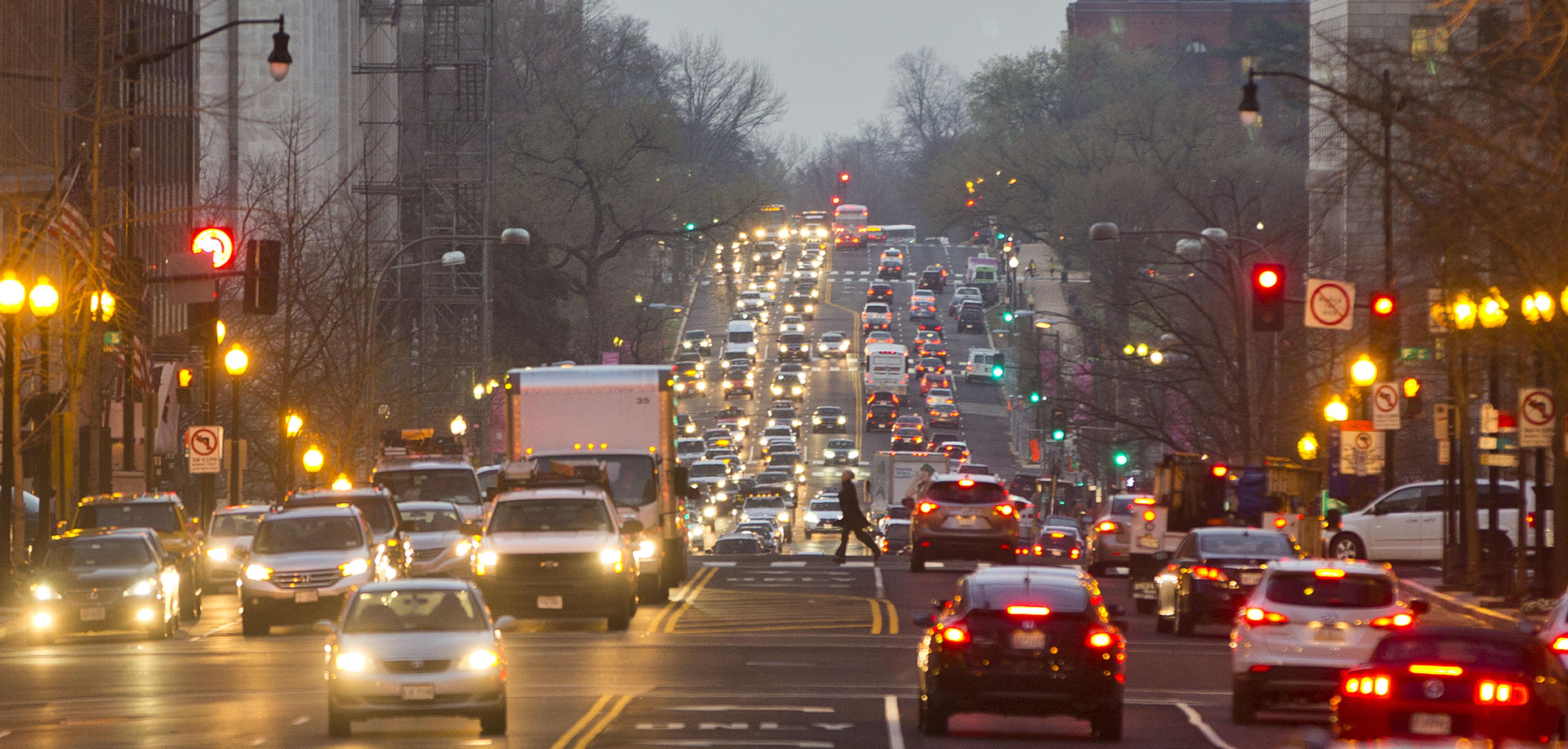 Morning traffic street photo