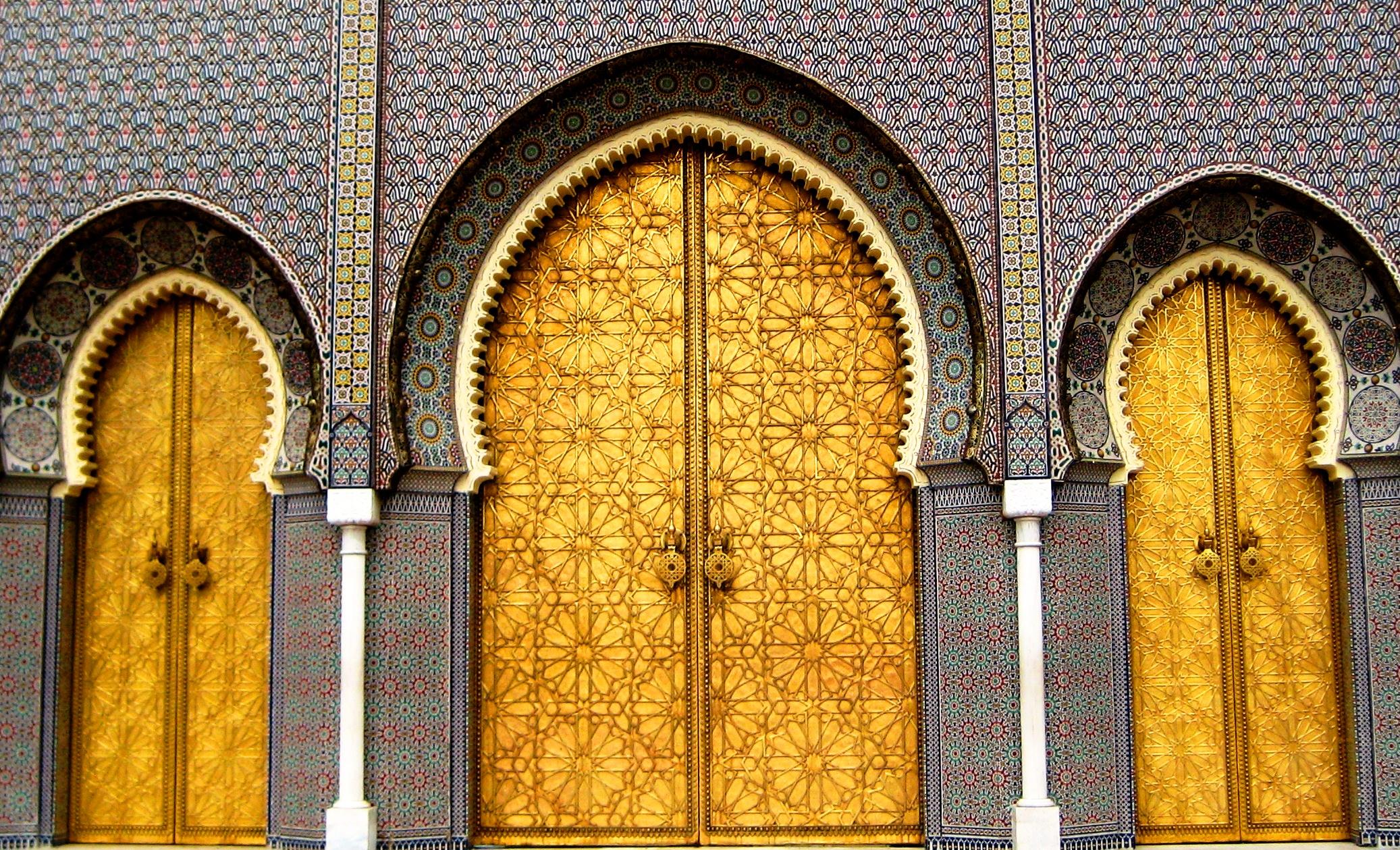 Moroccan gate photo