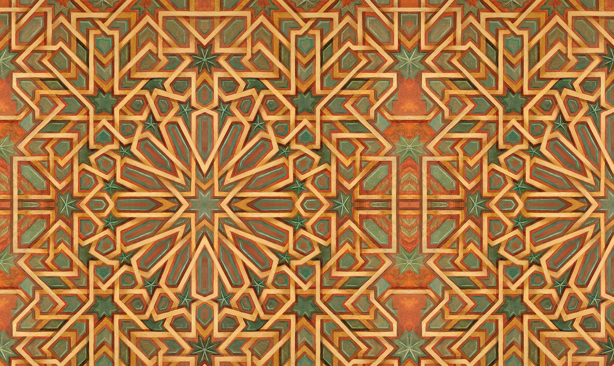 Living Room Top Moroccan Style Design Home Interior Tiles Stencil ...