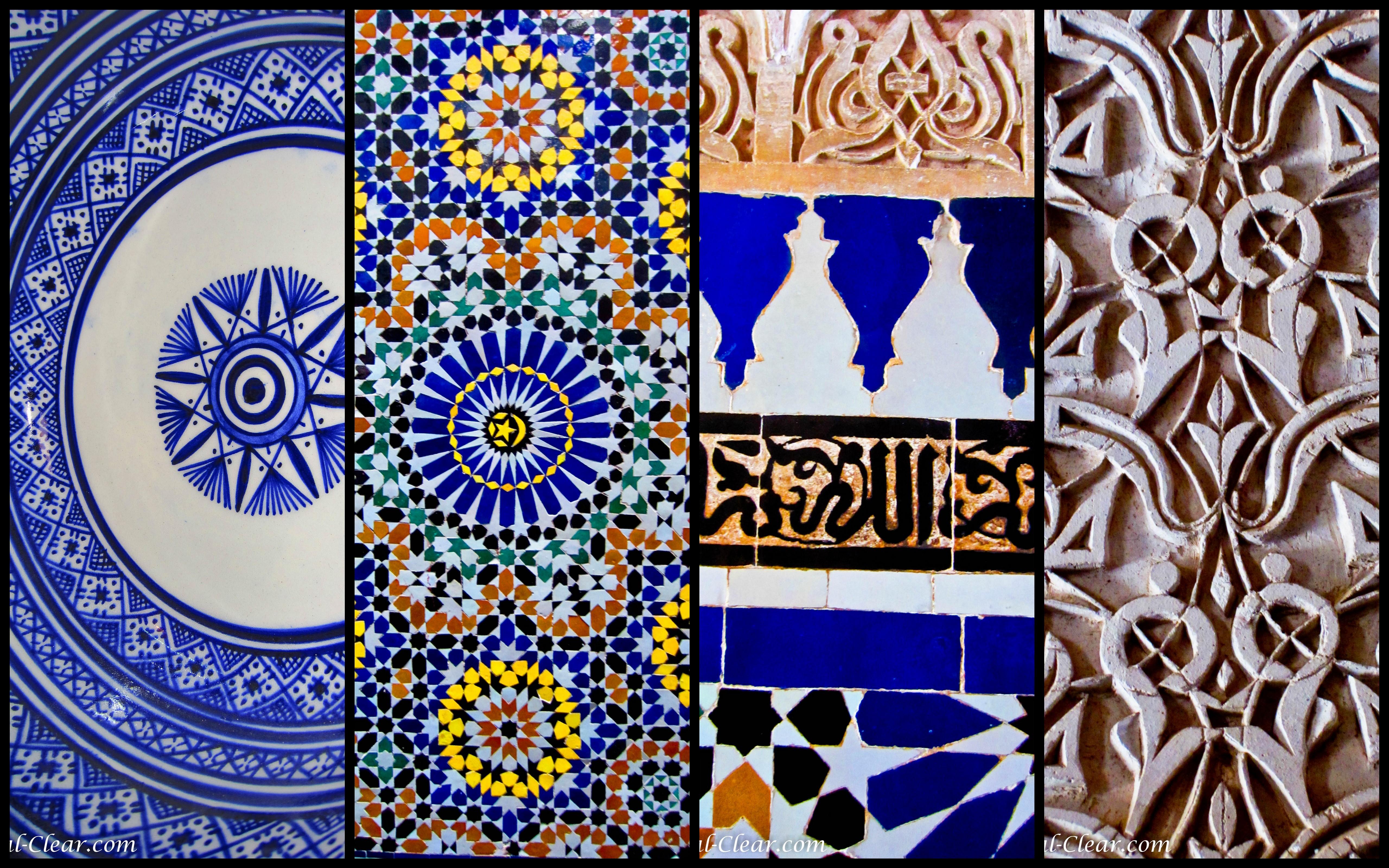 Moroccan Designs Collage - Tierra Este   #72718