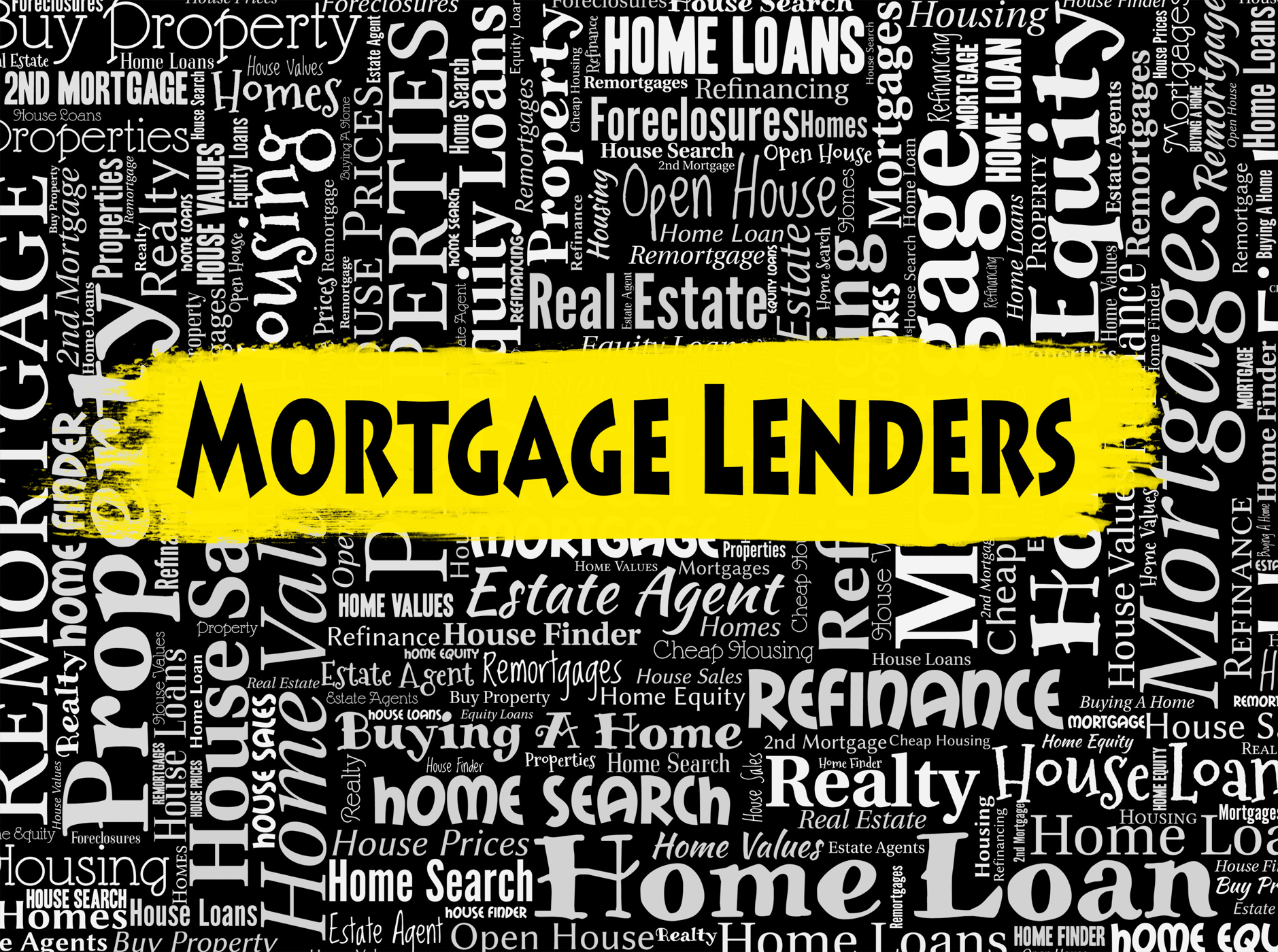 Mortgage lenders shows home loan and banking photo