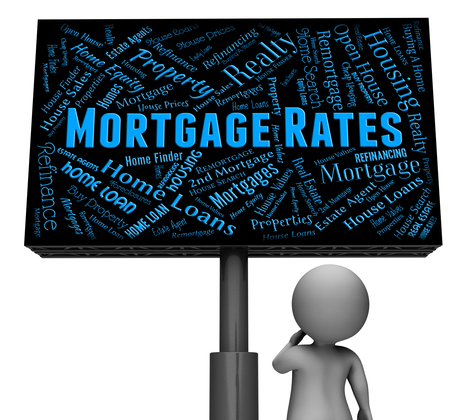 Mortgage rates represents home loan and board photo