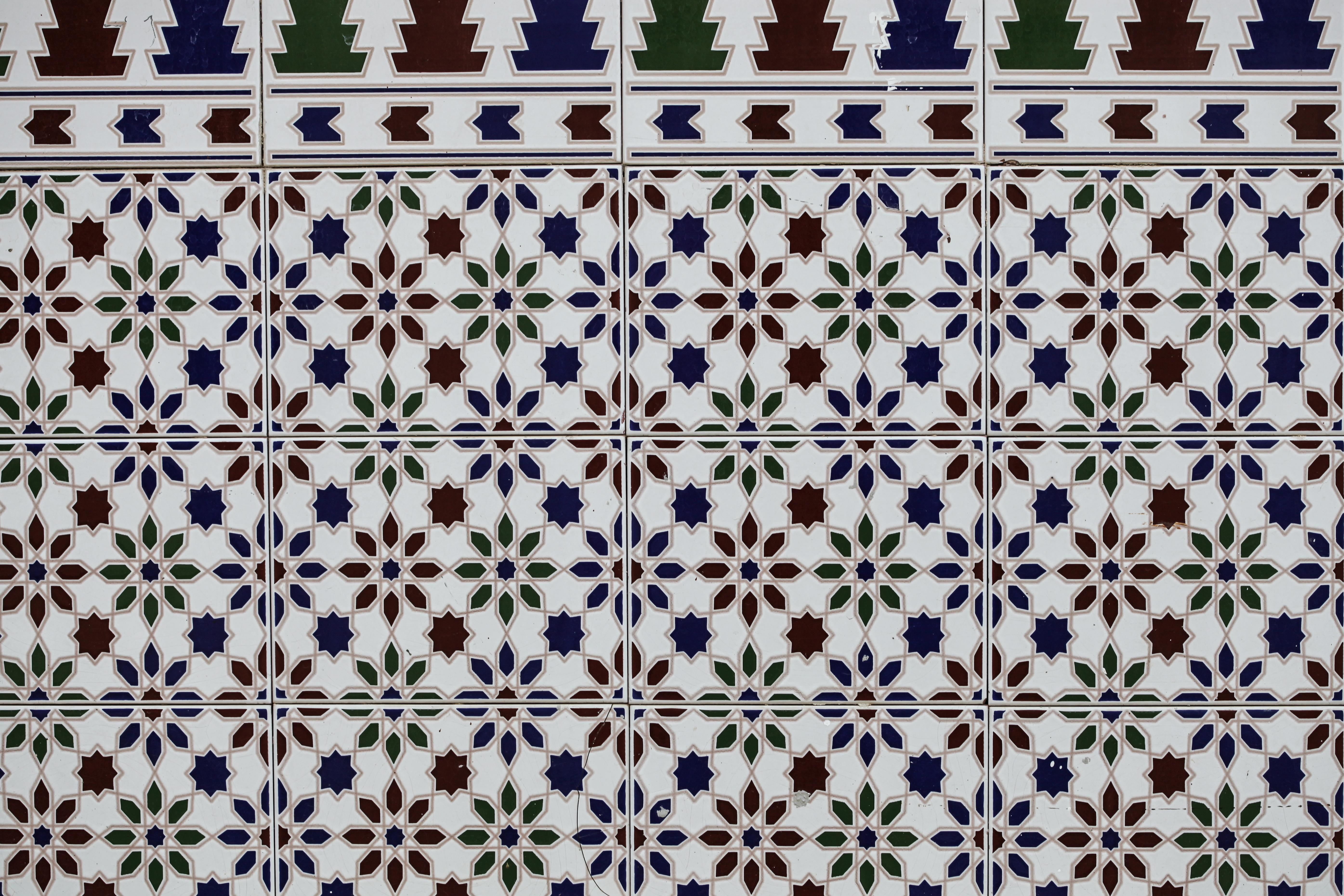 Mosaic Tiles Texture, Mosaic, Spanish, Texture, Tiles, HQ Photo