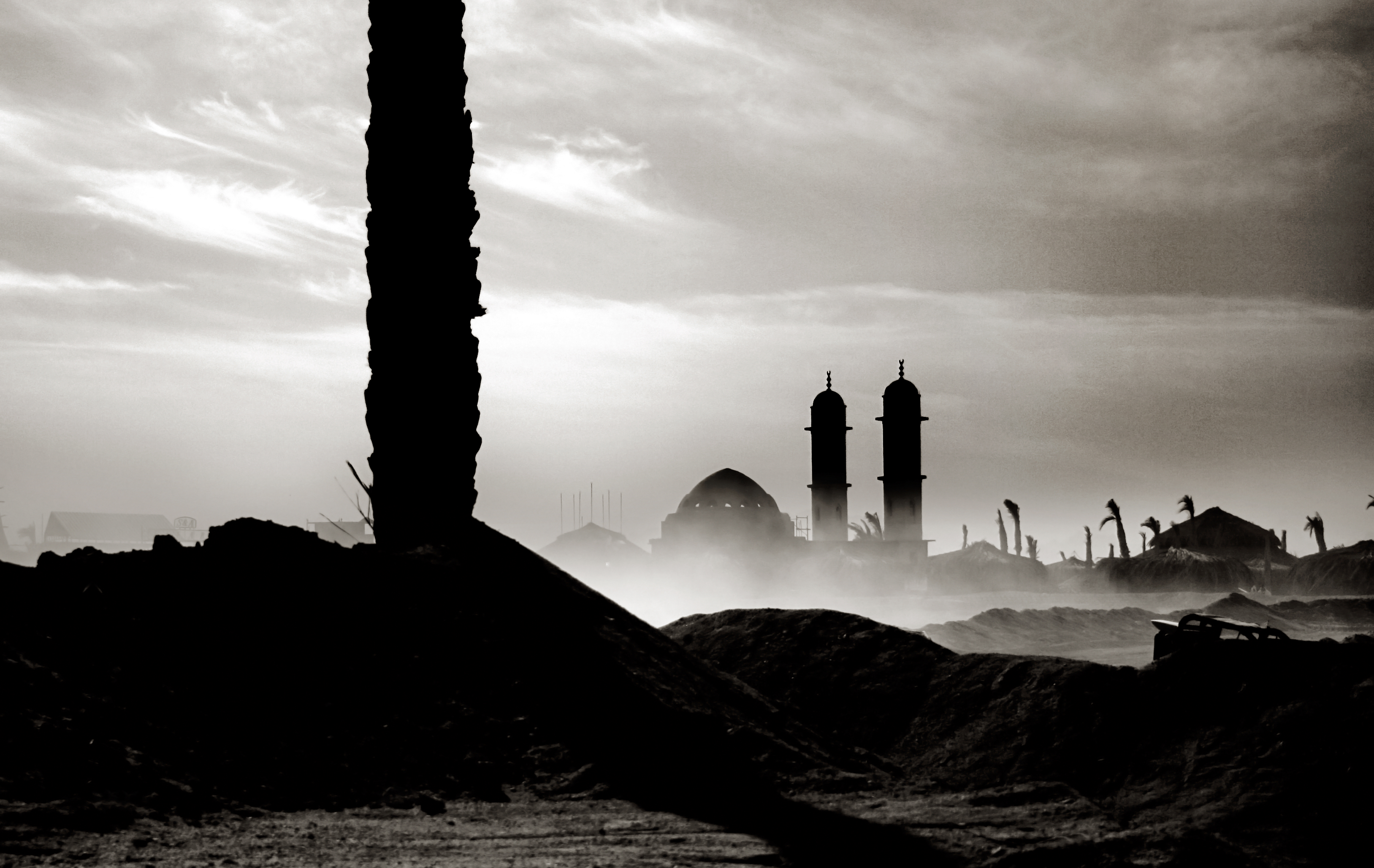 Mosque landscape in egypt photo
