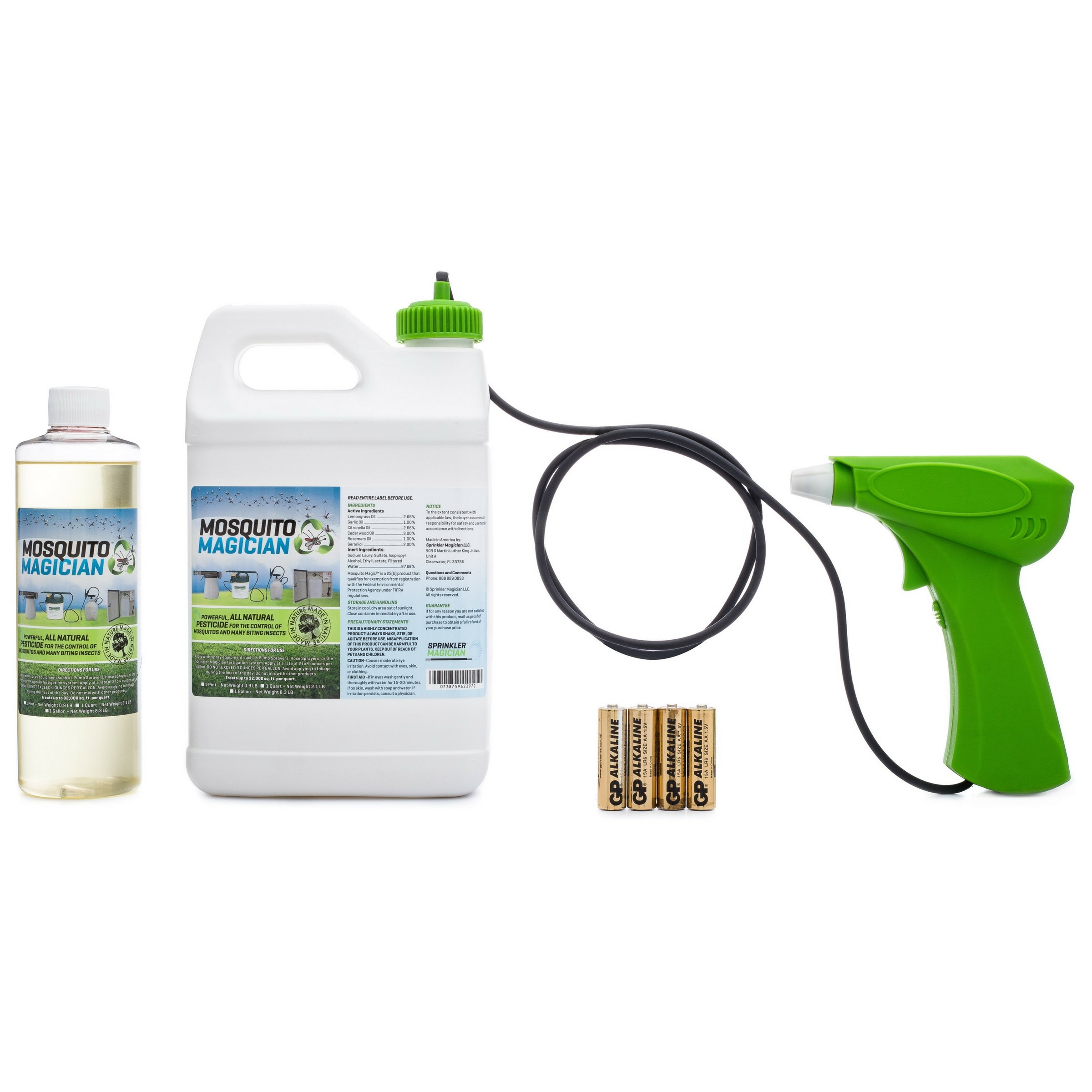 Hand Held Battery Sprayer with 1 Pint Natural Mosquito Killer ...