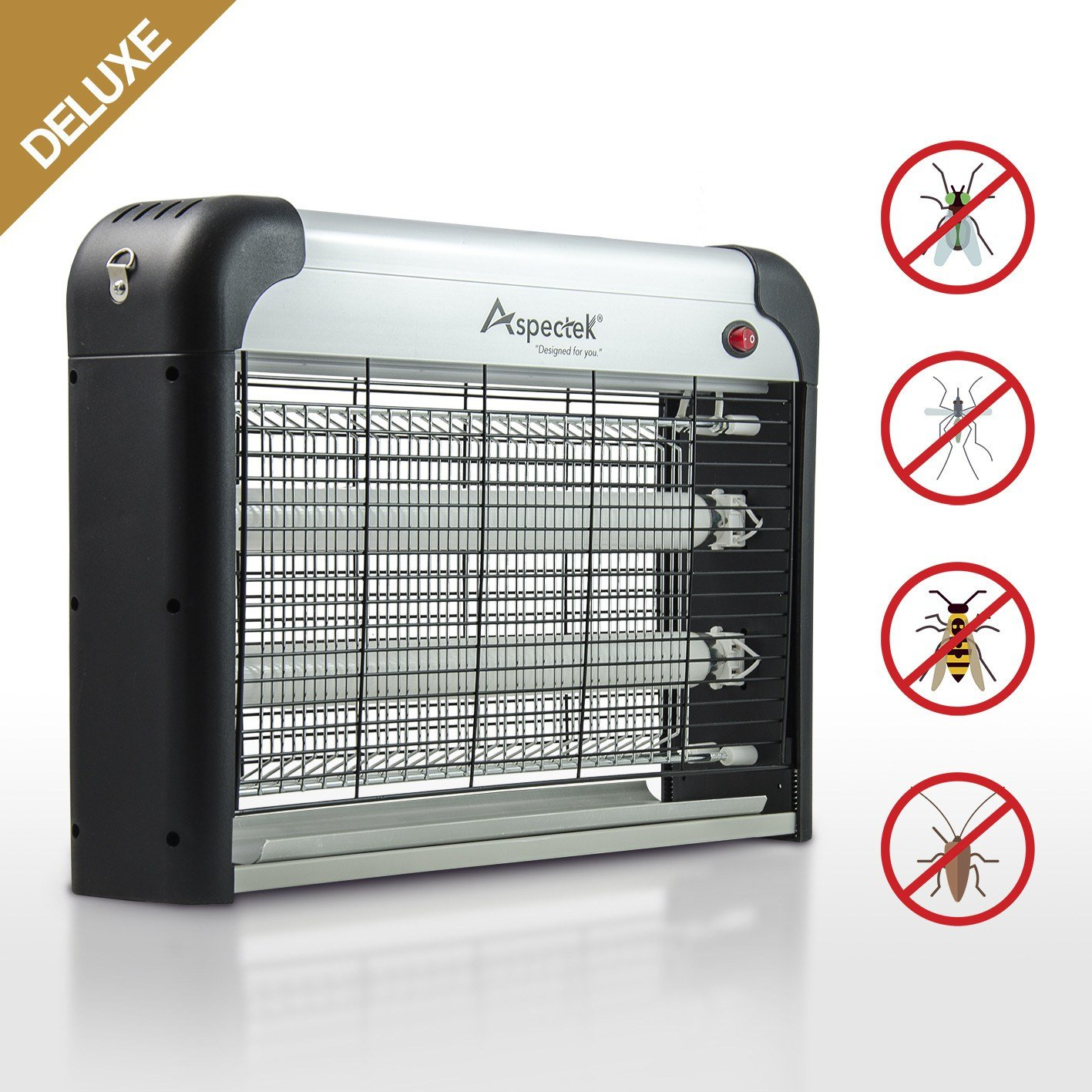 Indoor Bug Zapper Insect Killer 20W *Deluxe*| Electric Mosquito ...