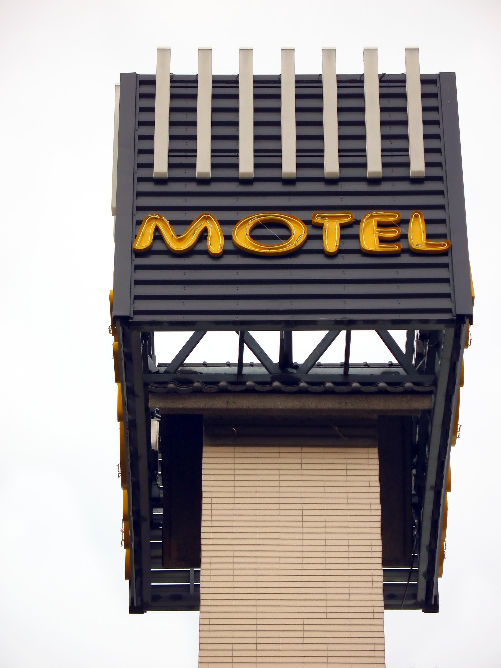 Motel Sign, Accommodation, Rent, Wires, Travel, HQ Photo