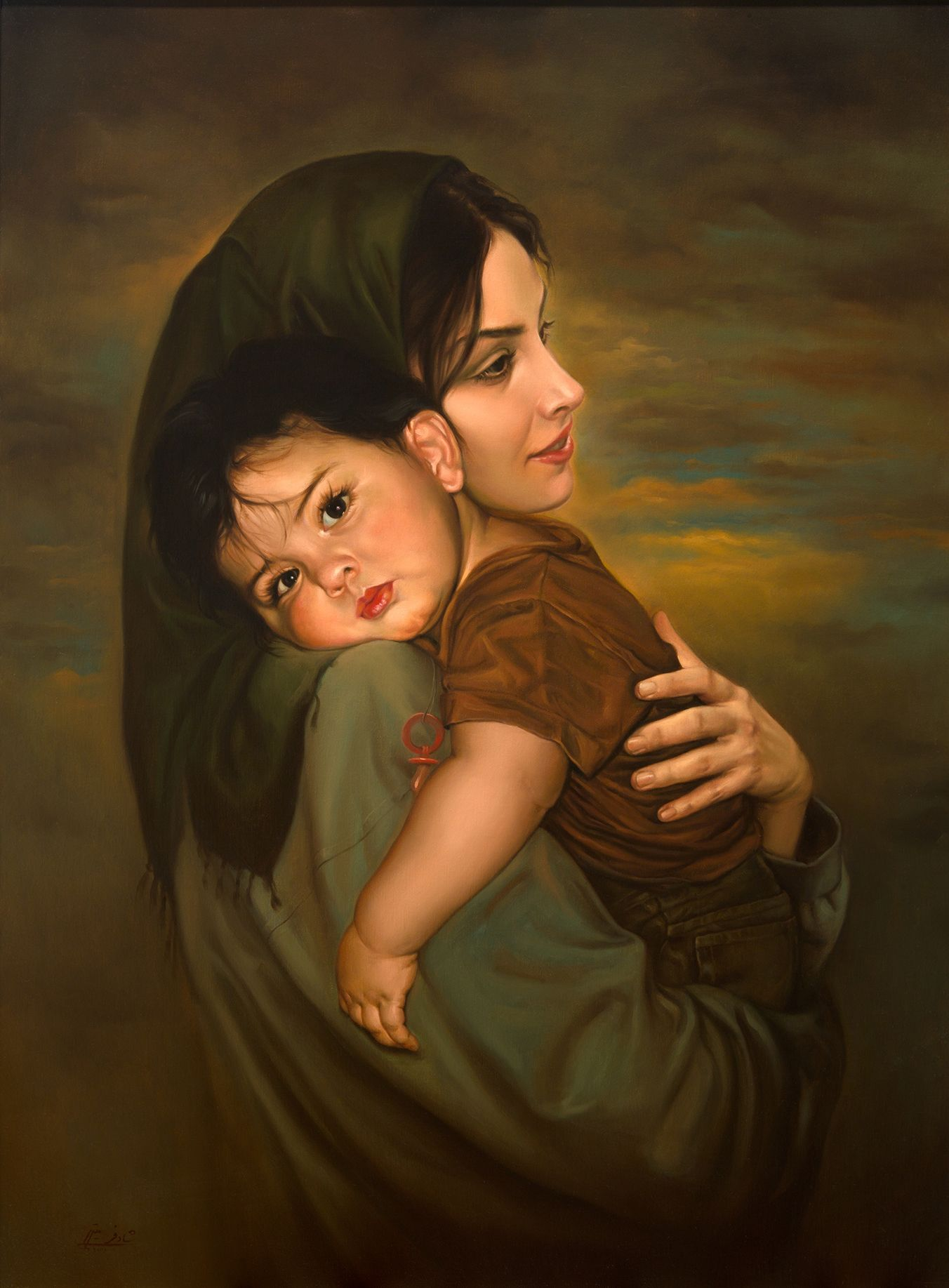 Mother and child photo