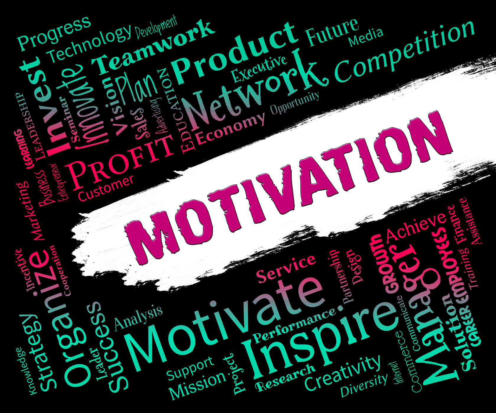 Motivation word represents do it now and inspire photo