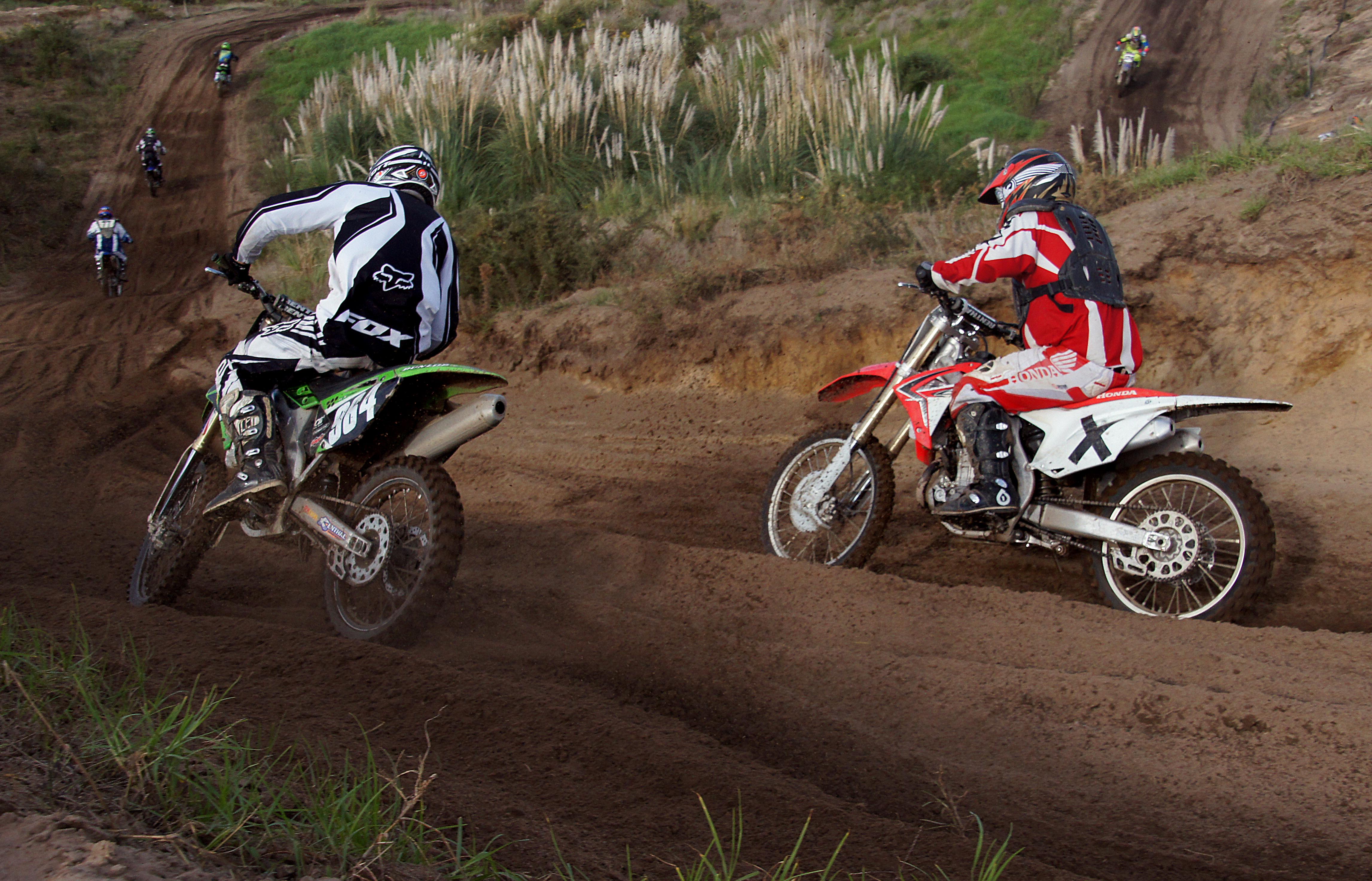 Motor cross riders. photo