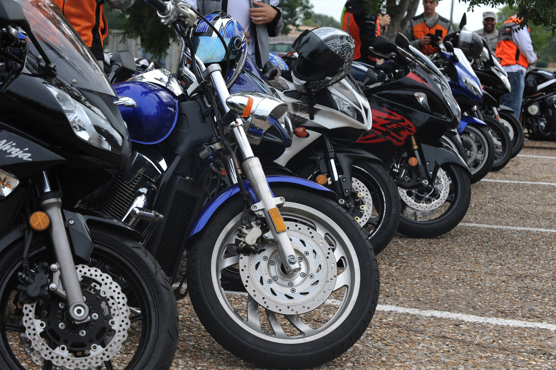 Motorcycle Stand, Bike, Motorcycle, Park, Parking, HQ Photo