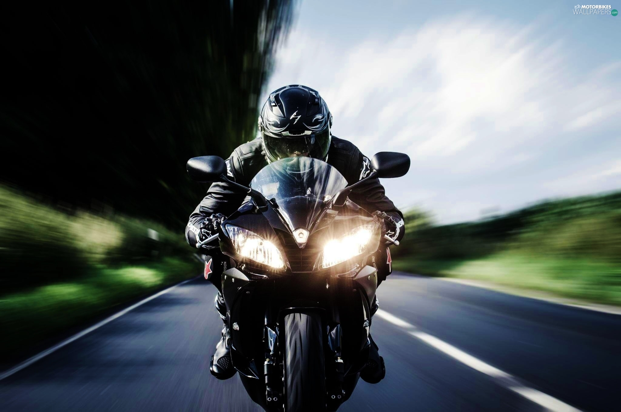 Motorcyclist photo