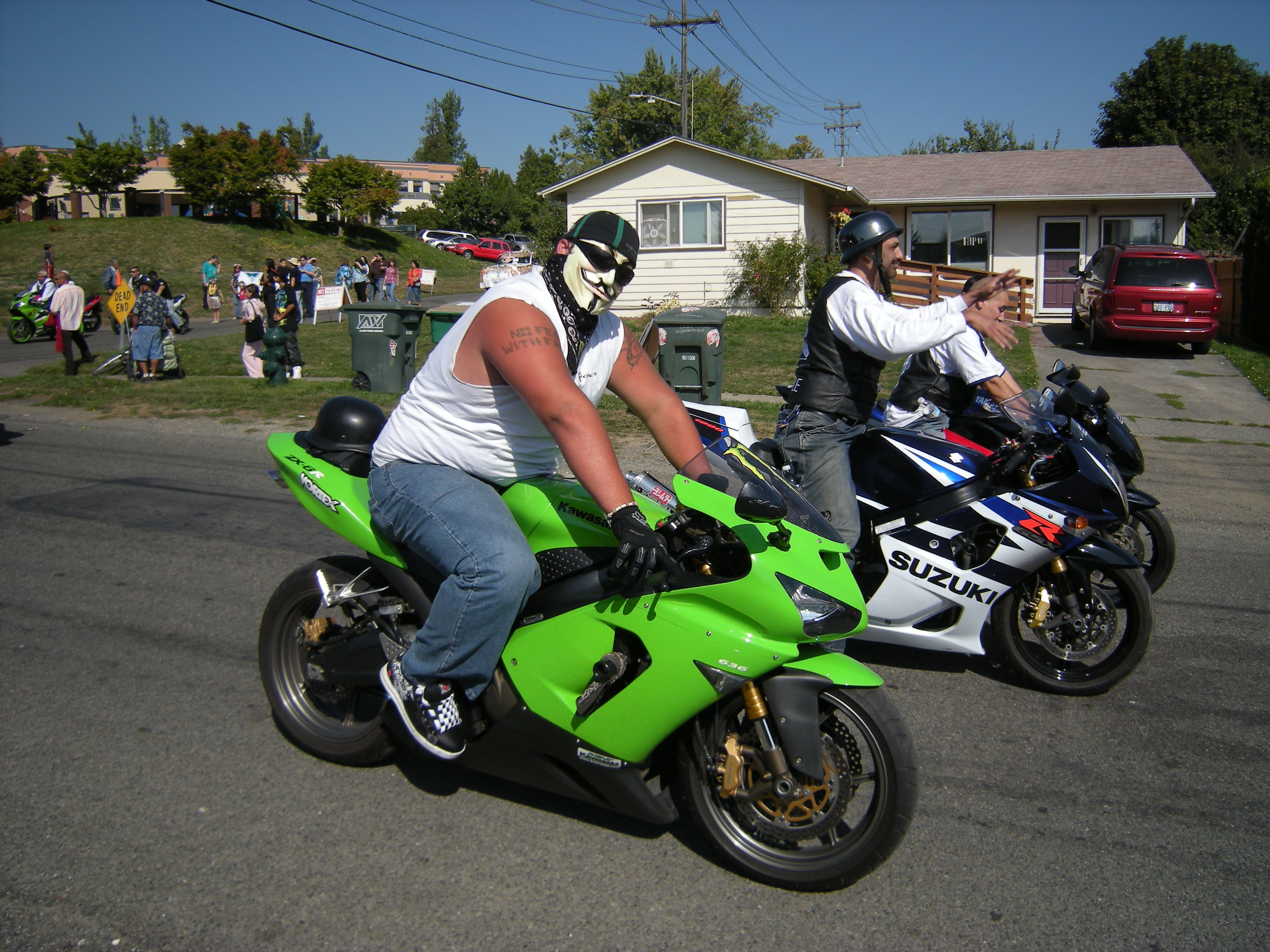 Motorcyclists photo