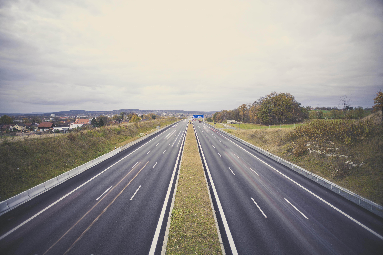 Motorway highway a9 munich - berlin / exit bayreuth photo