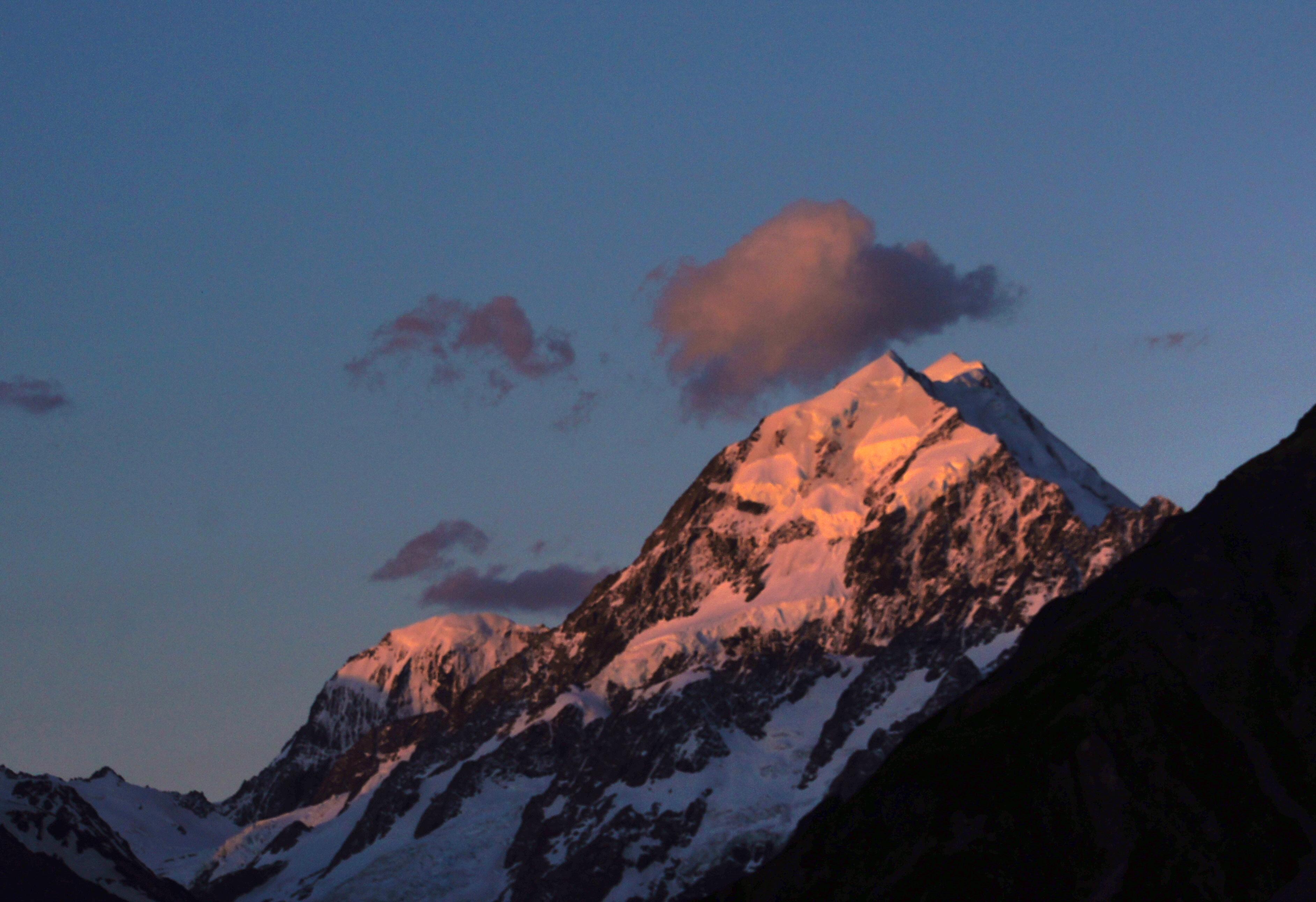 Mount Cook sunset., Public Domain Dedication (CC0), New zealand, Mountainside, Rock, HQ Photo