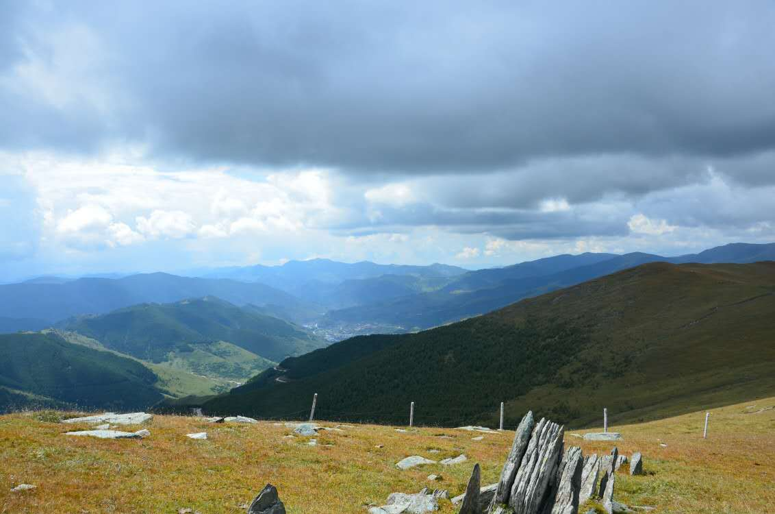 Mount Wutai Grasslands, China, Cloudy, Grasslands, Landscape, HQ Photo