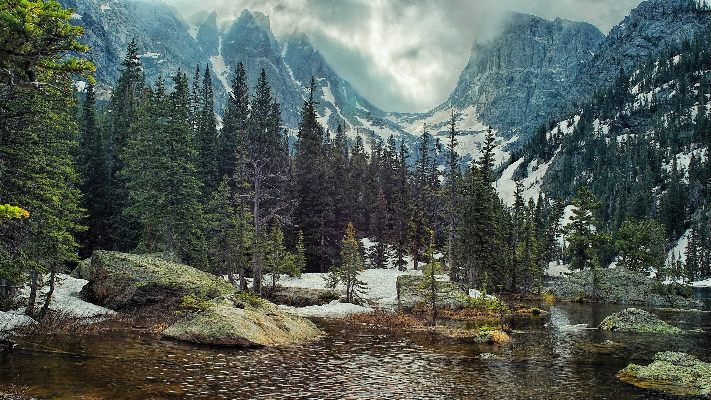 nature, Landscape, Mountain, Forest, Lake, Rock, Pine Trees ...