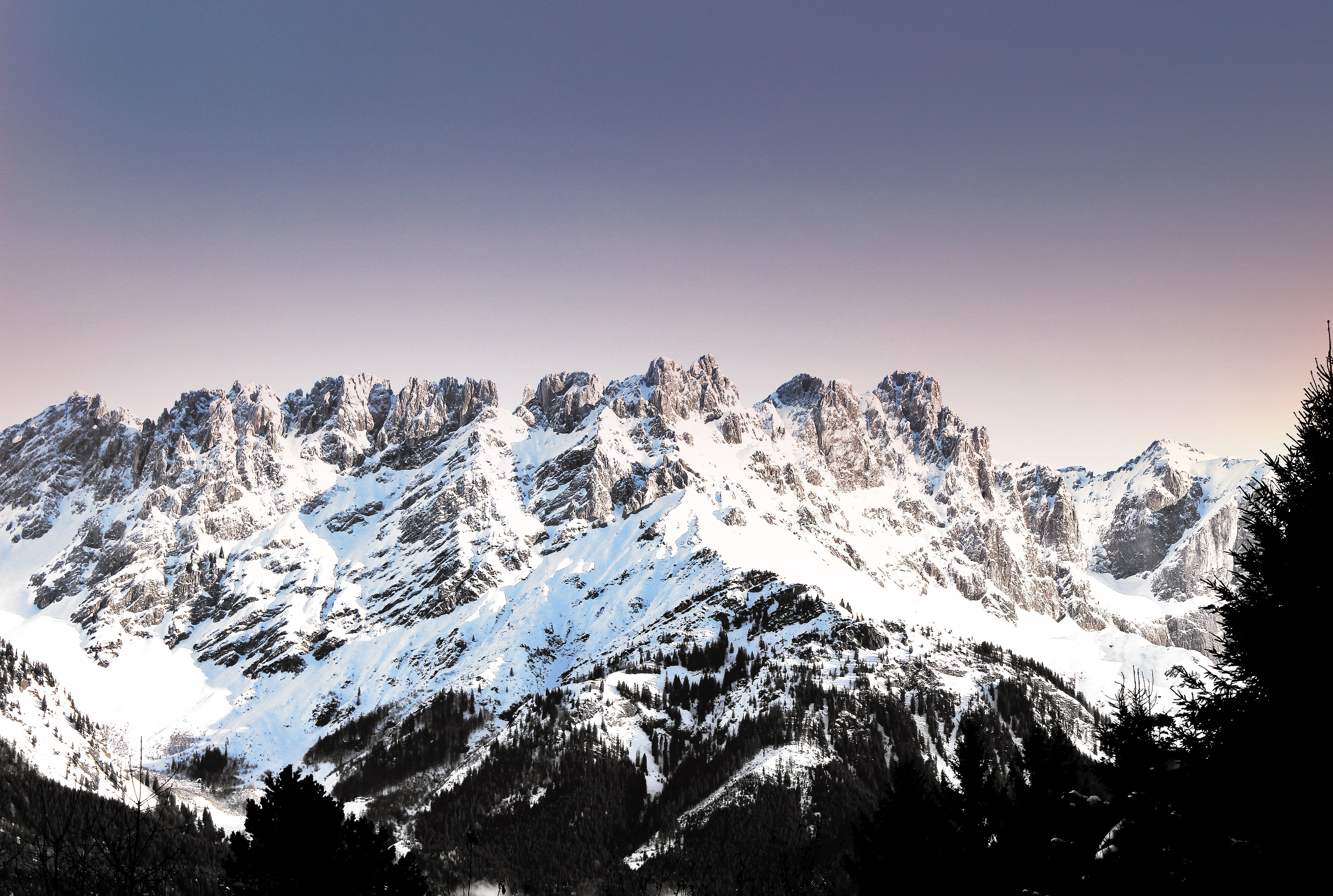 Mountain during winter photo