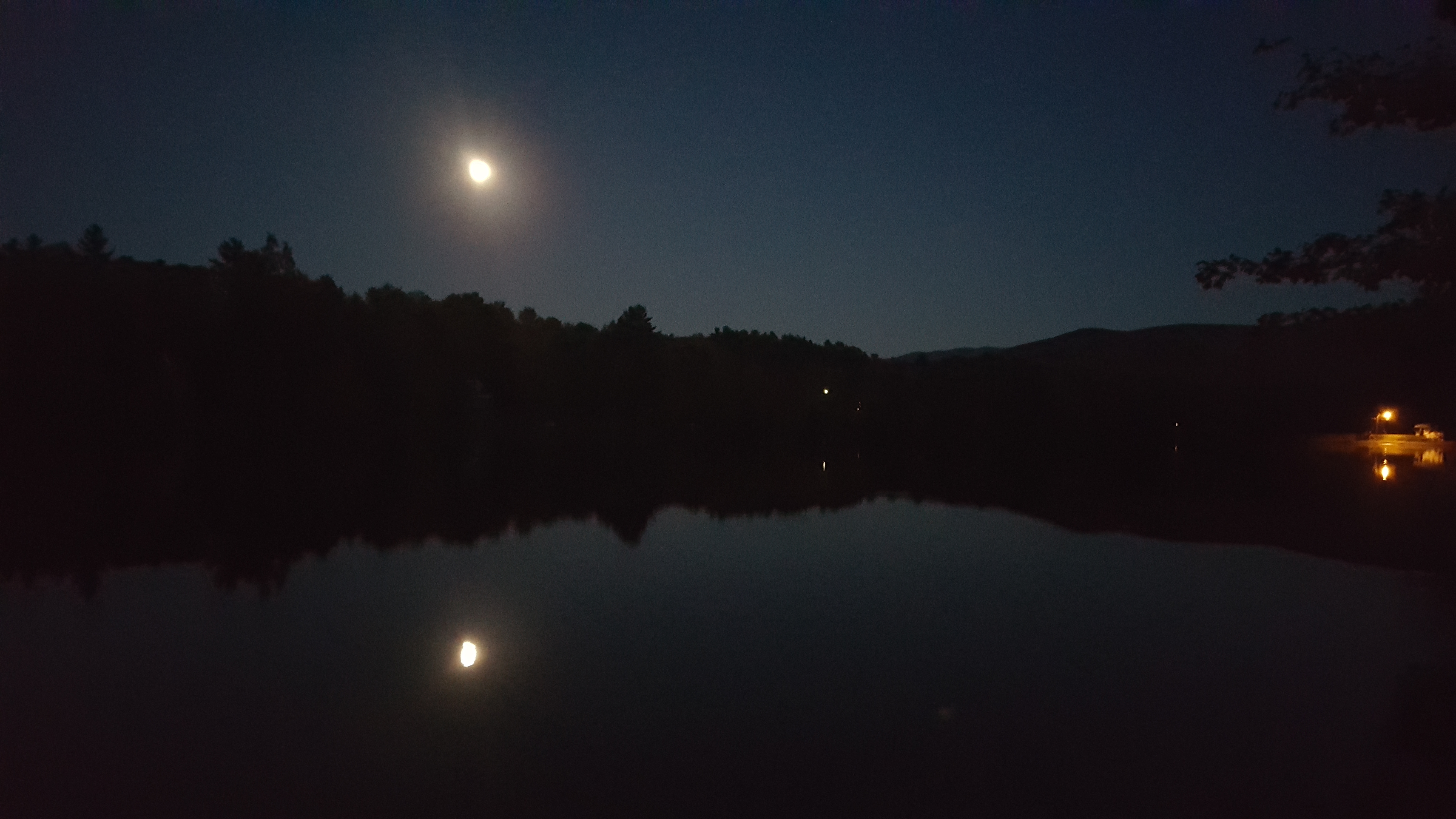 Mountain Lake at Night, October, Outdoor, Reflection, Trees, HQ Photo