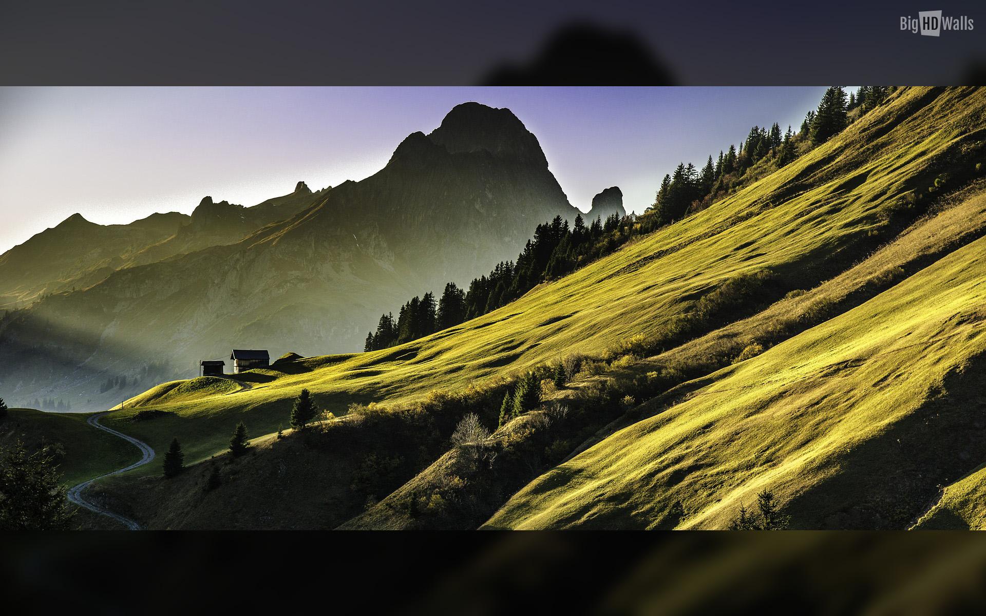 Mountain Landscape HD Wallpaper | BigHDWalls