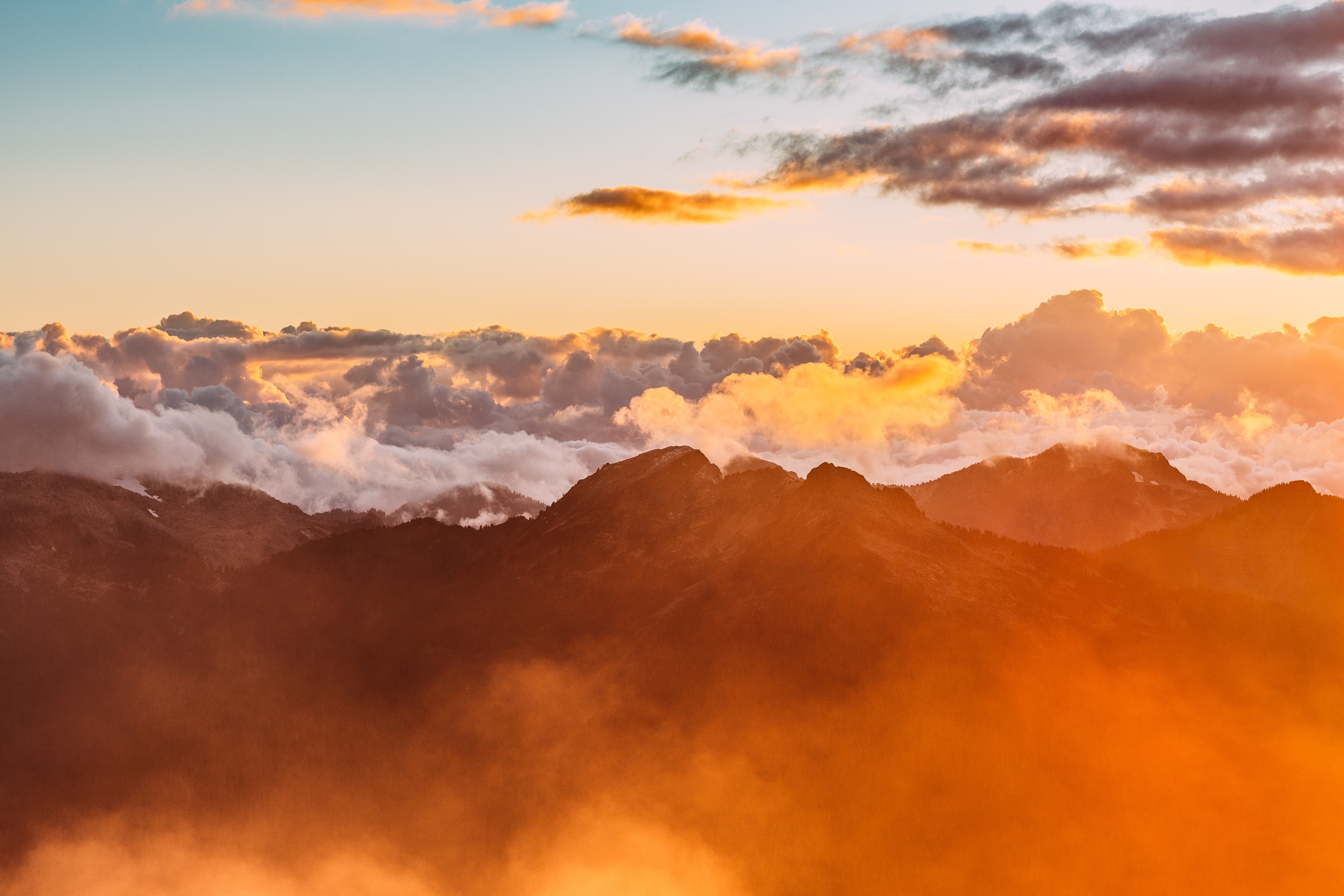 Mountains in the clouds photo
