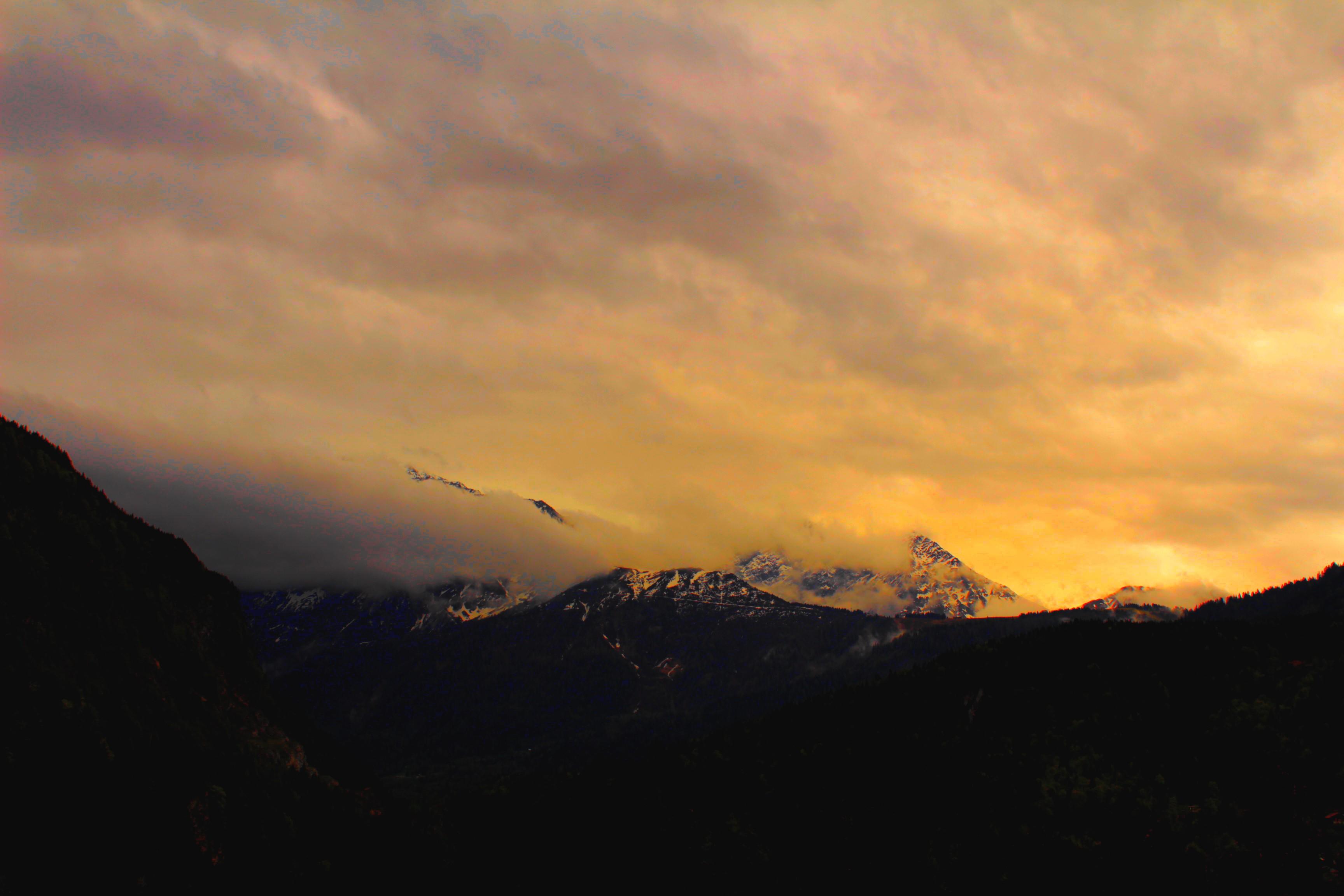 Mountains, Cloud, Cloudy, Fog, Mountain, HQ Photo