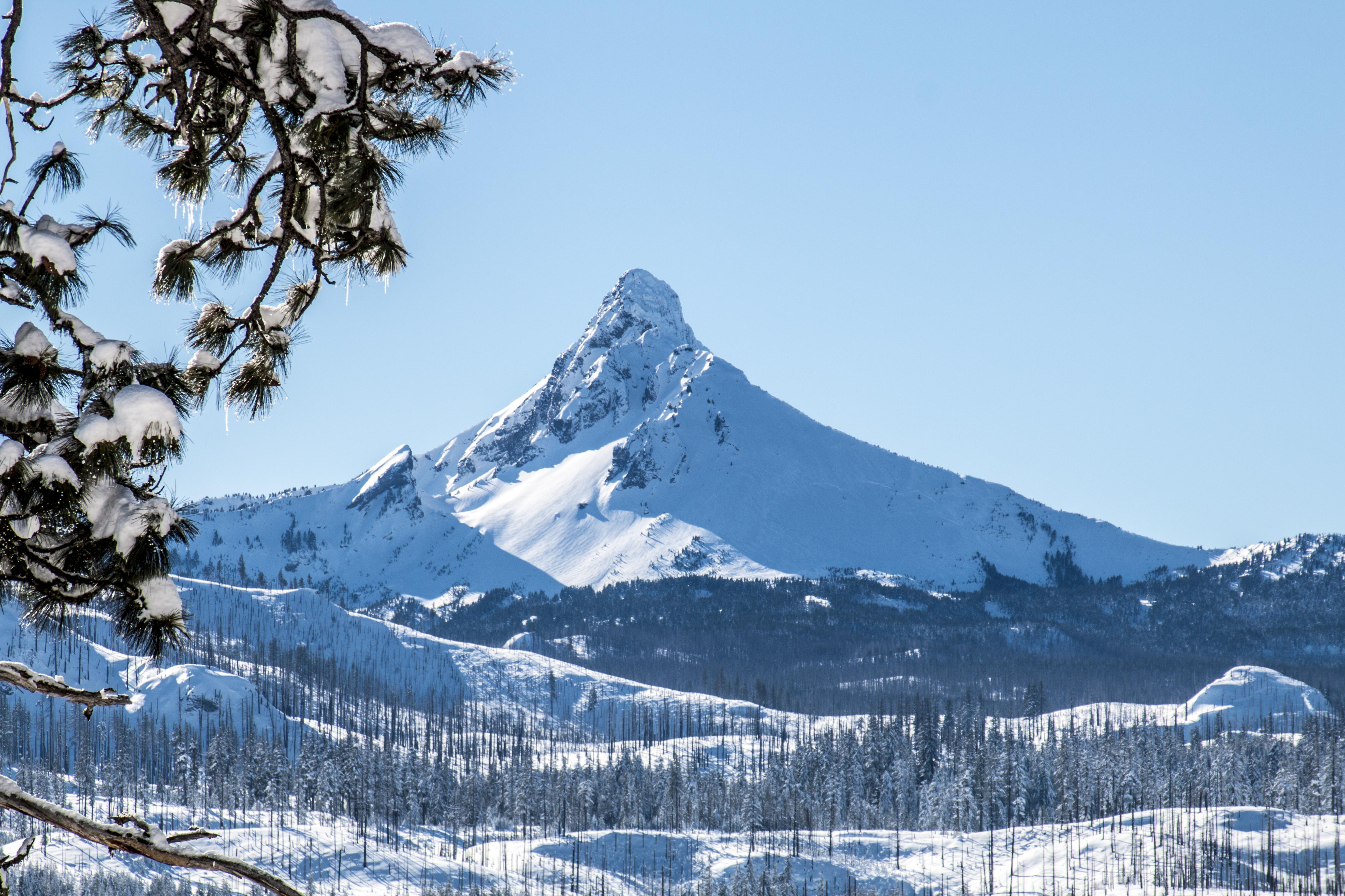 Mt washington, oregon in january photo