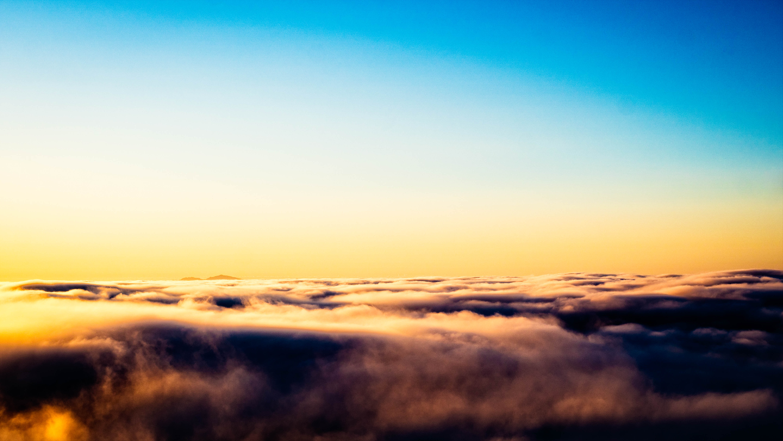 Mt. diablo peeking above the fog photo