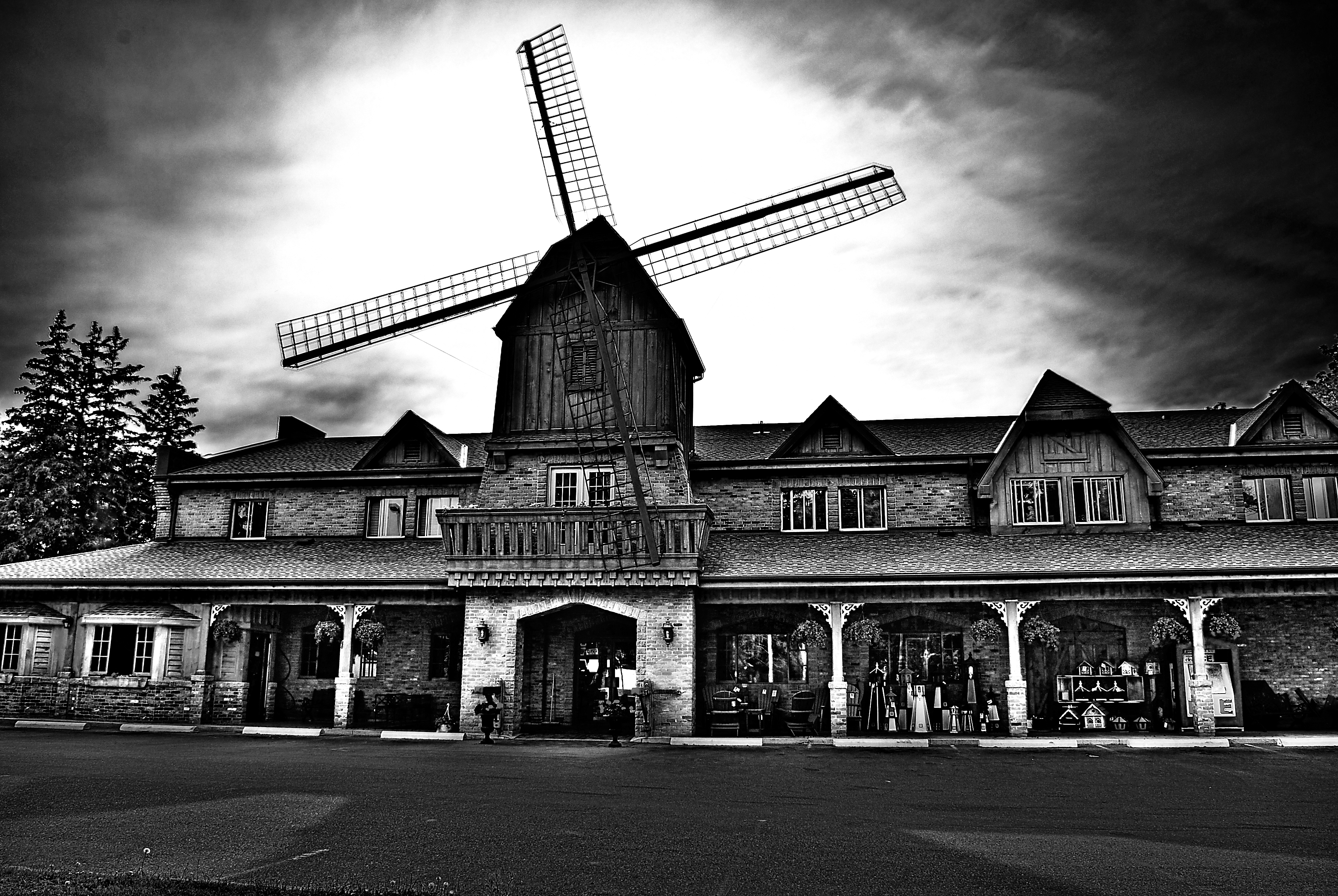 Mt. Pleasant windmill, Bakery, Black, Black&white, Building, HQ Photo