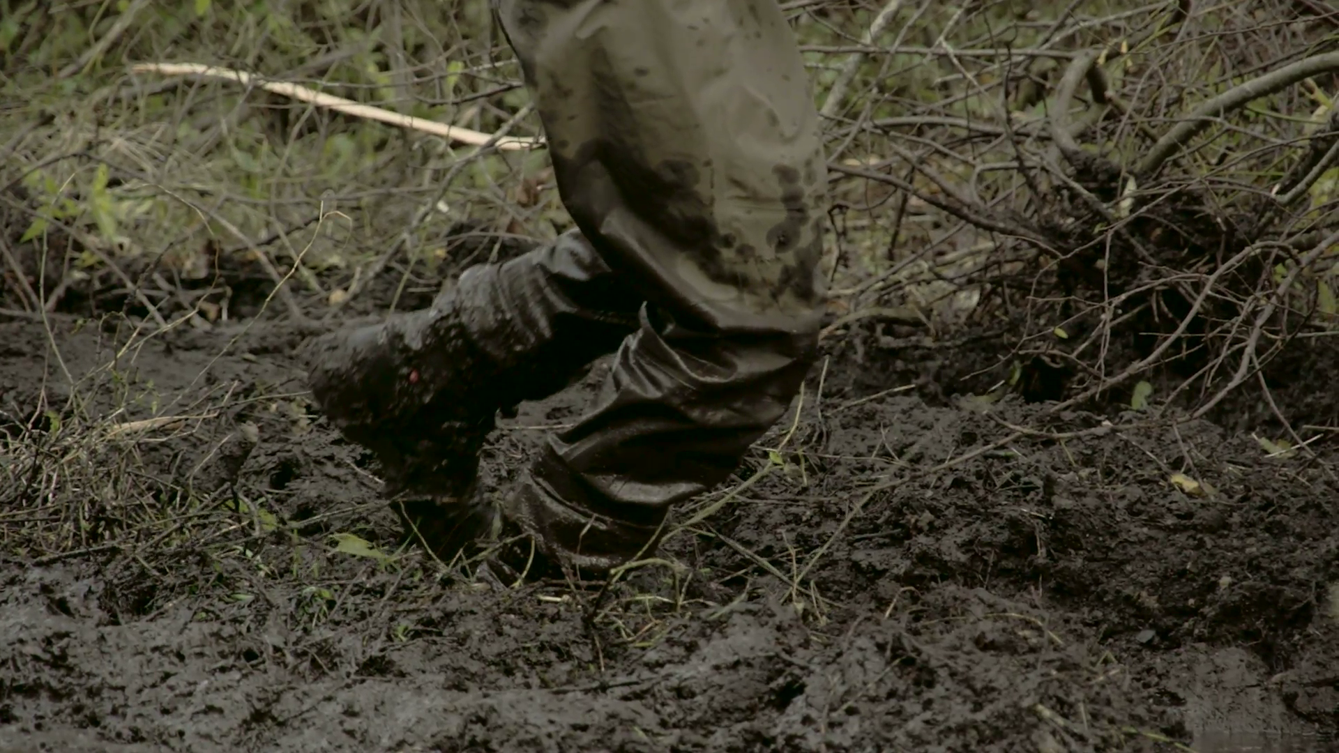 A muddy feet stepping on the mud Stock Video Footage - Videoblocks