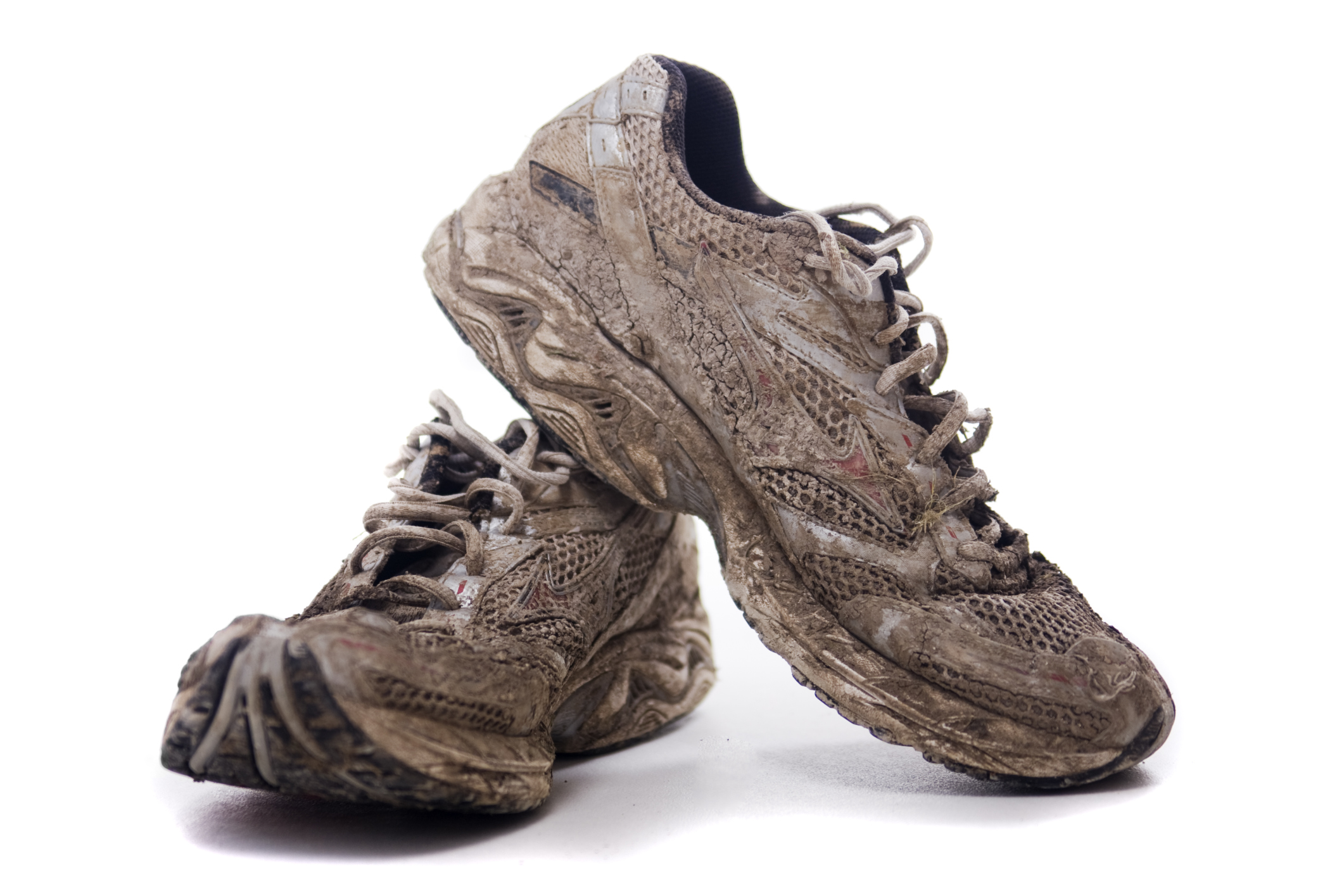 Muddy sport shoes photo