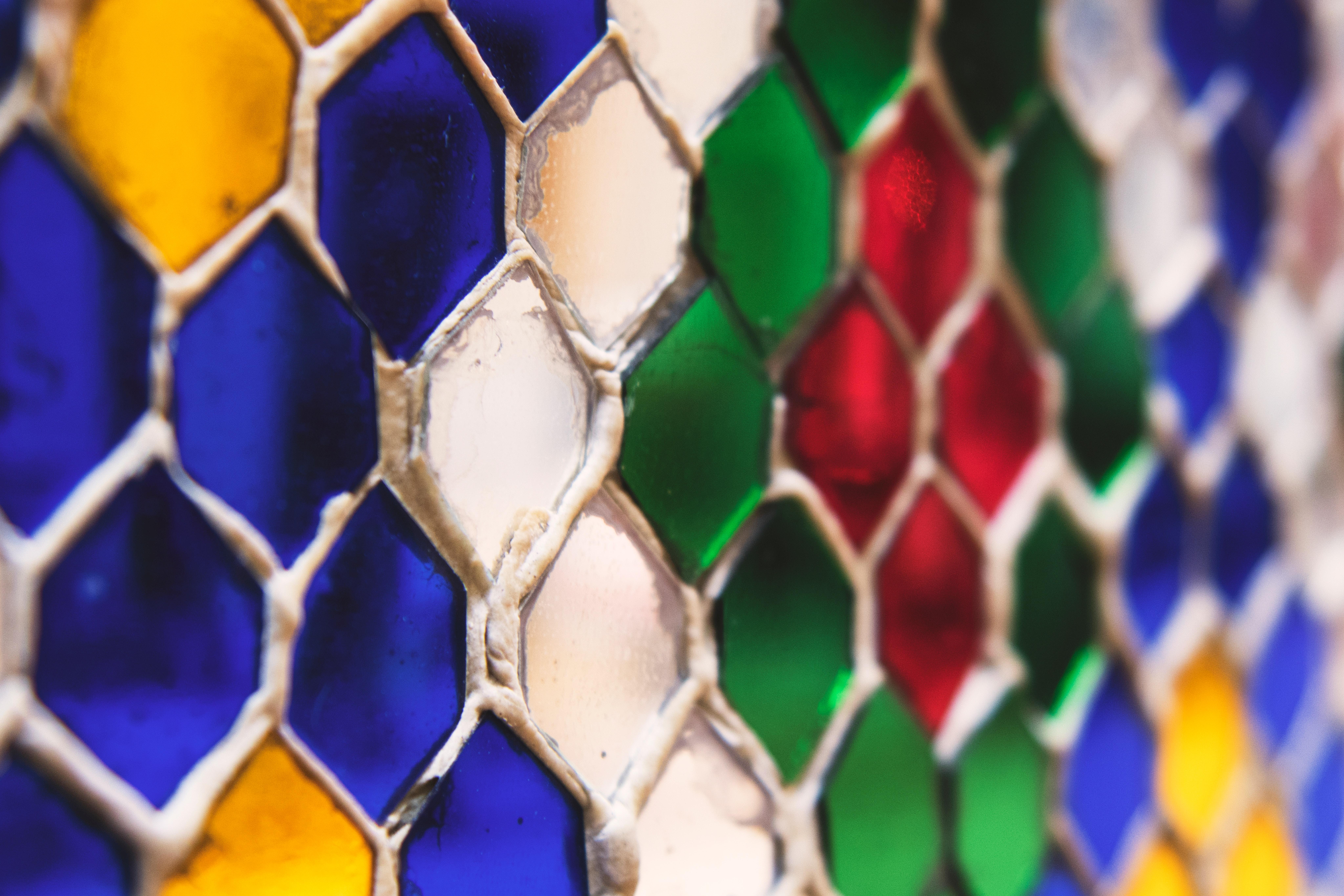 Multi-colored material photo