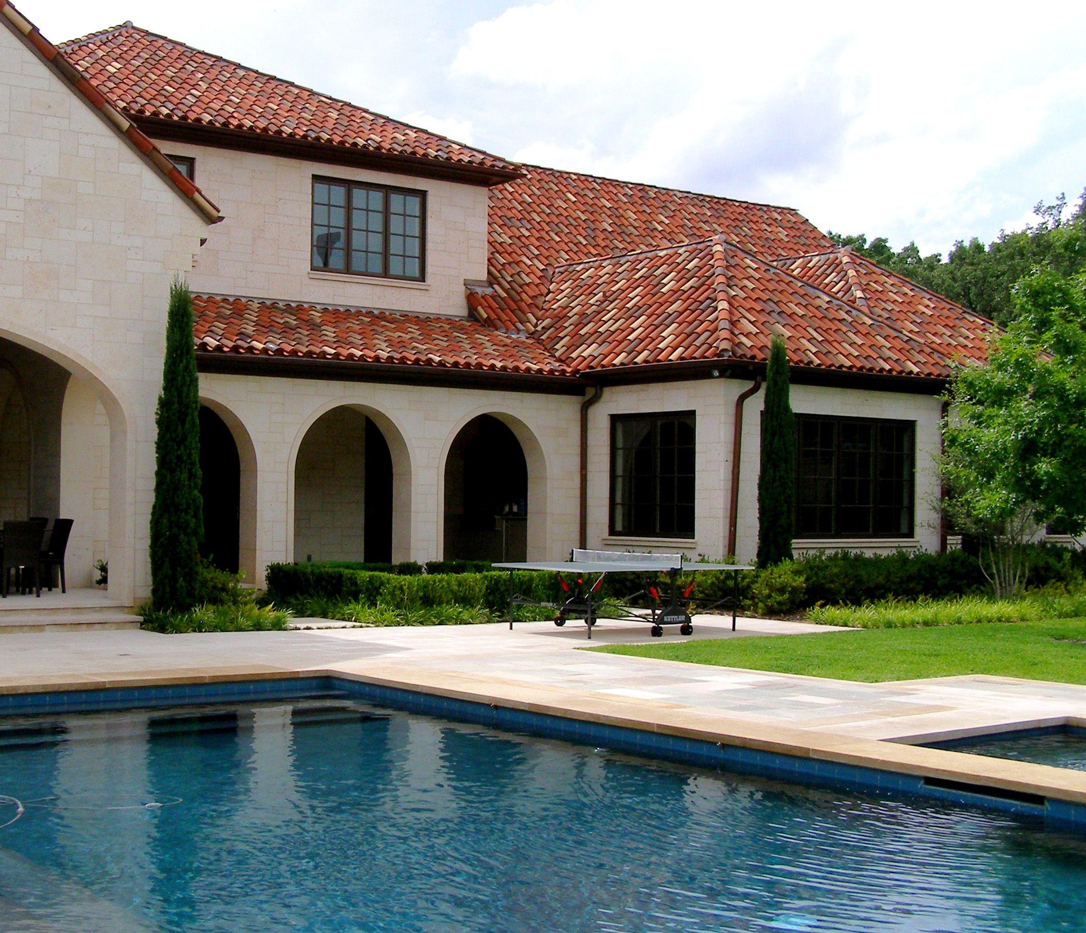 Backyard Exterior of a Italian Mediterranean Villa in Dallas, TX ...