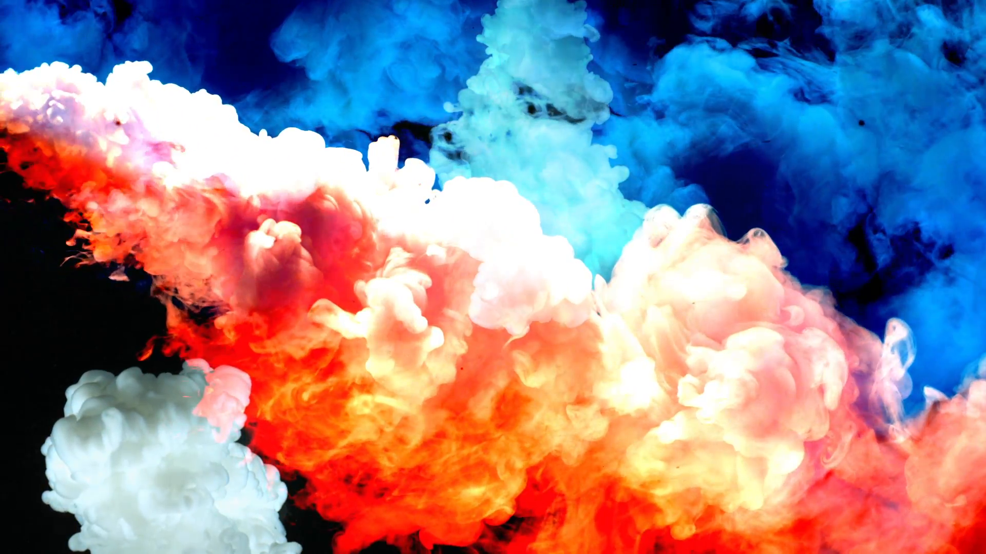 Multicolored smoke photo