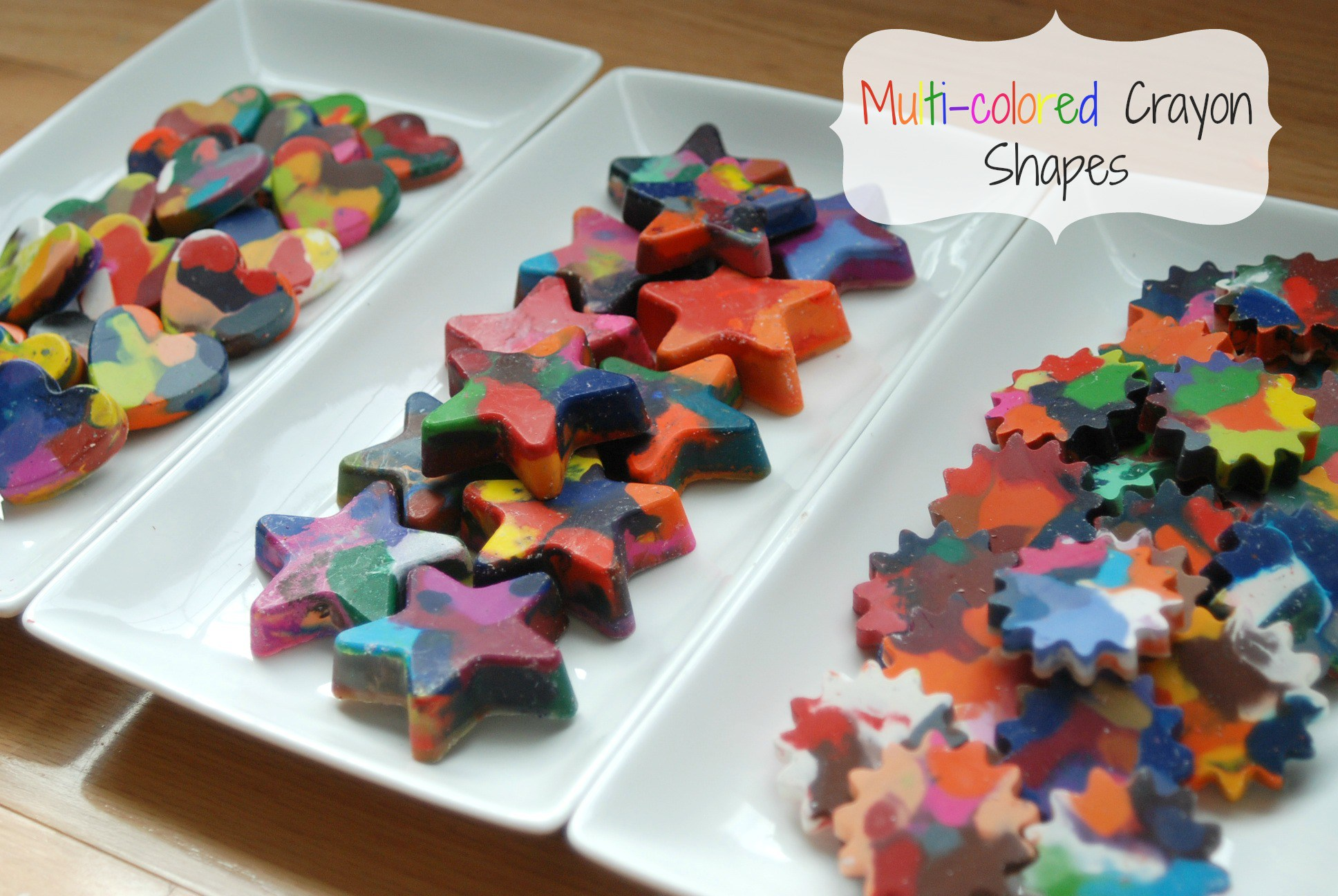 Multi-colored Crayon Shapes | Endlessly Inspired